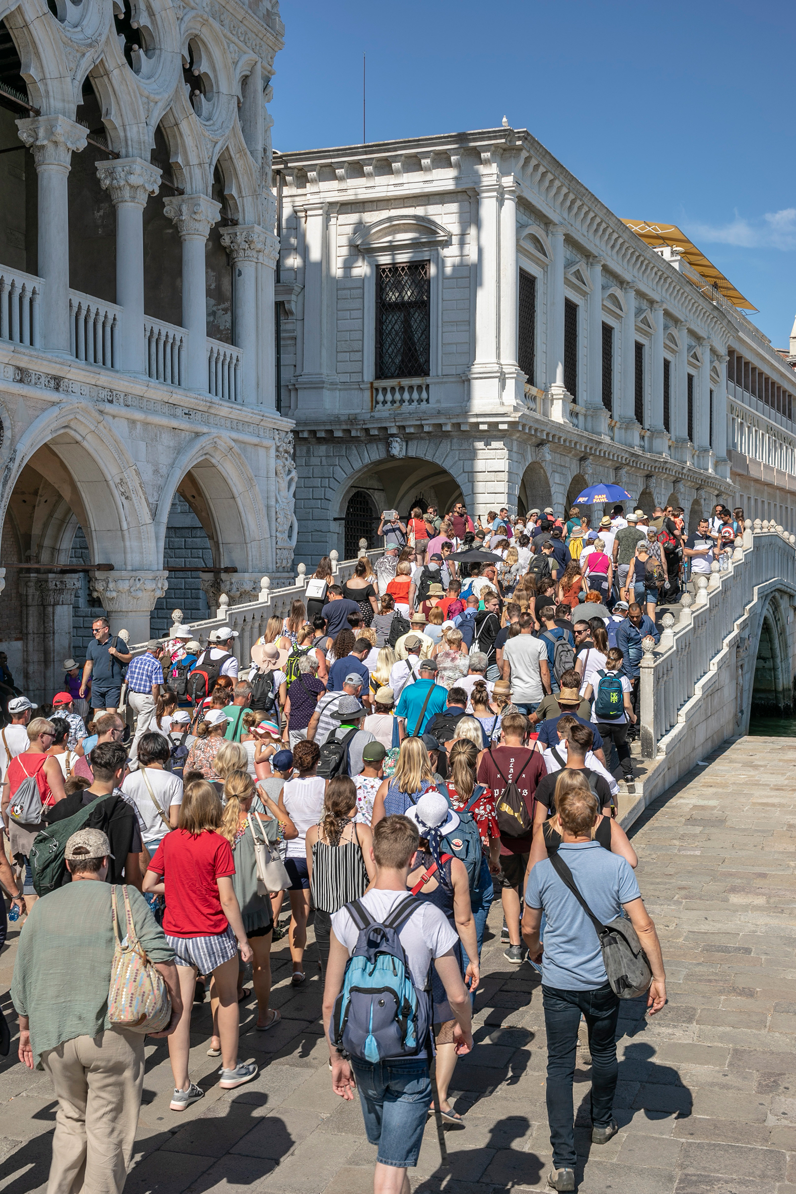 About 55,000 tourists visit Venice every day