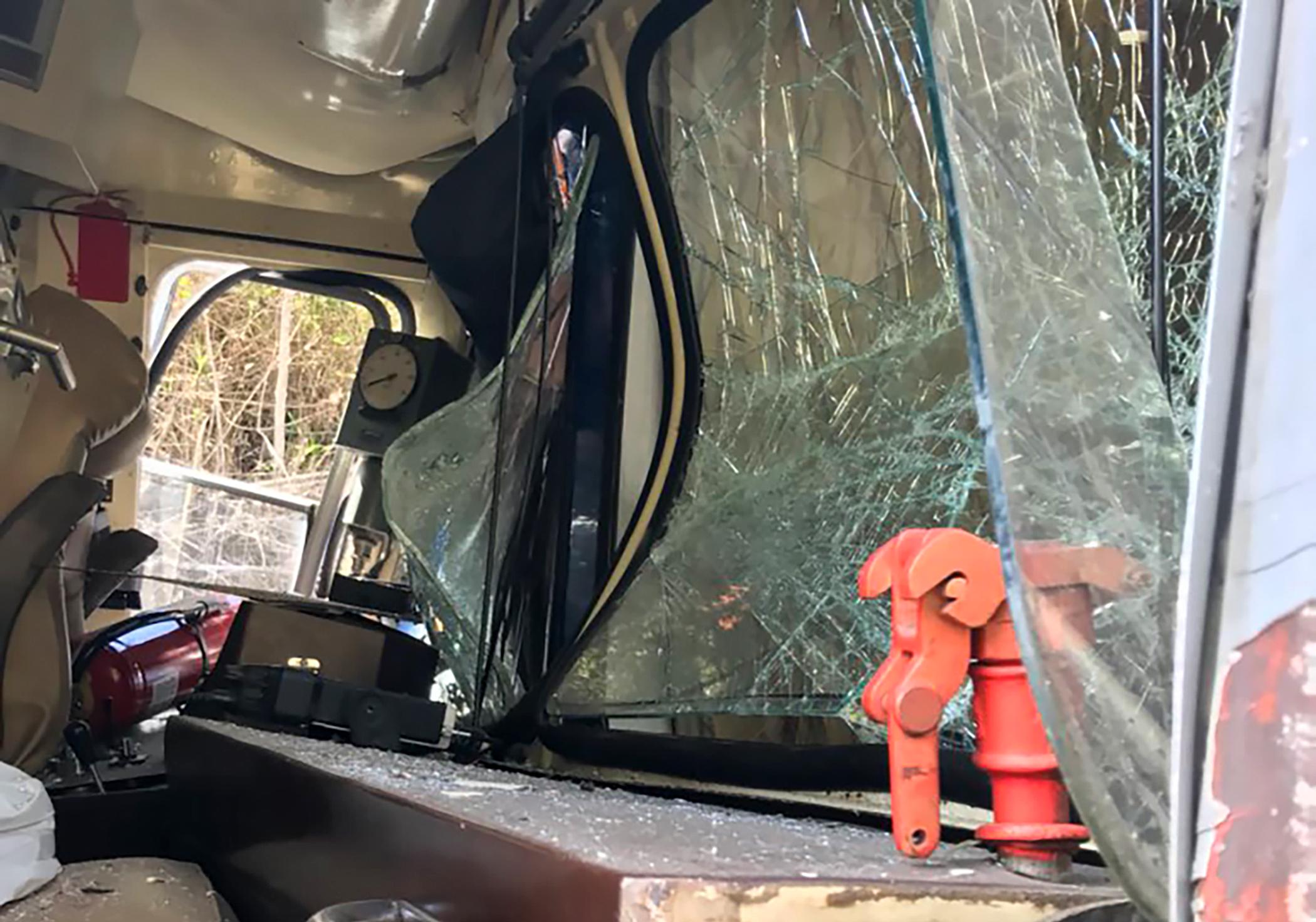 Two tourist trains crashed near the Inca citadel of Machu Picchu, close to Cusco, Peru, on July 31, 2018.