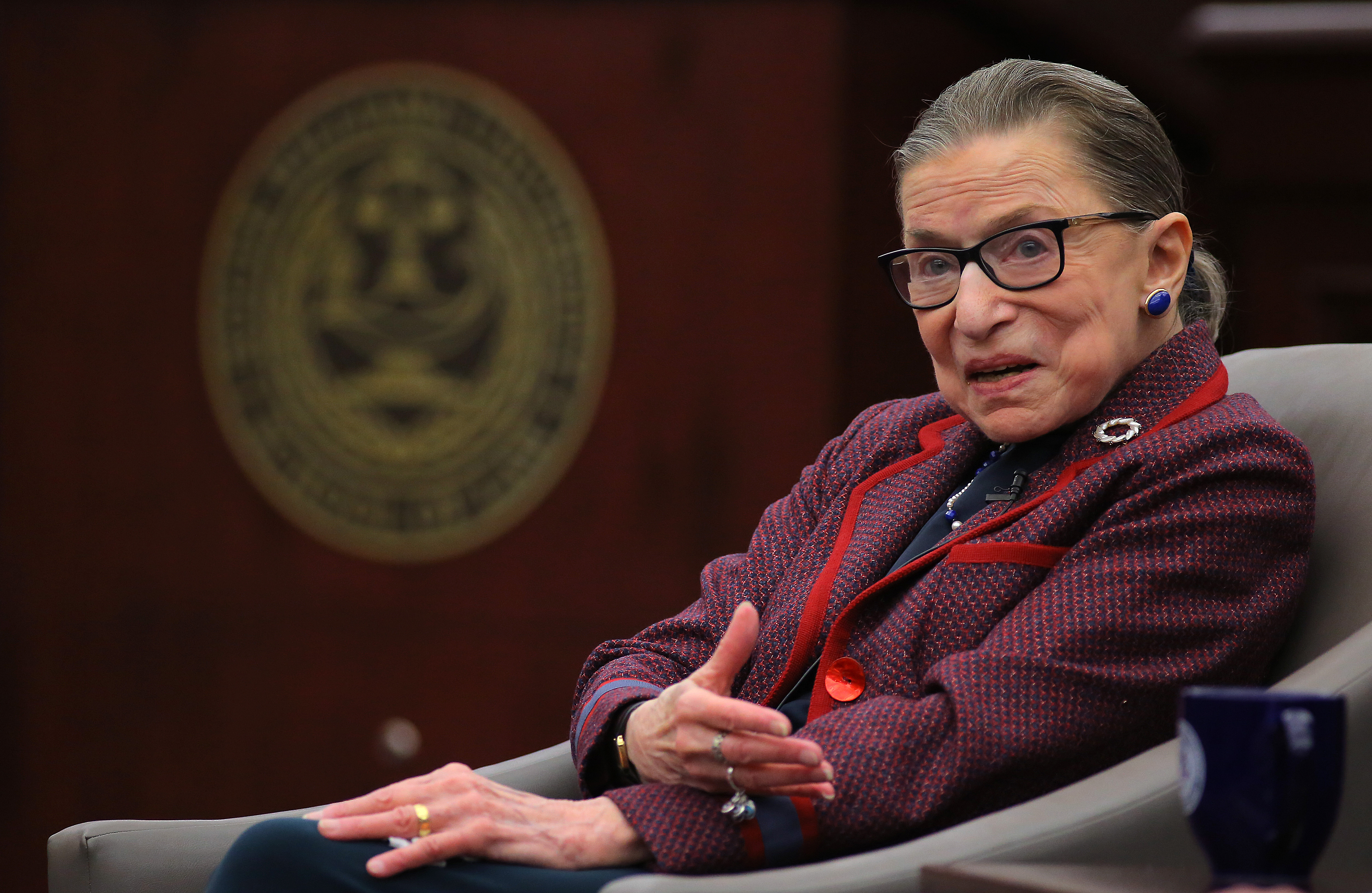 Supreme Court Justice Ruth Bader Ginsburg is recovering well from a fall