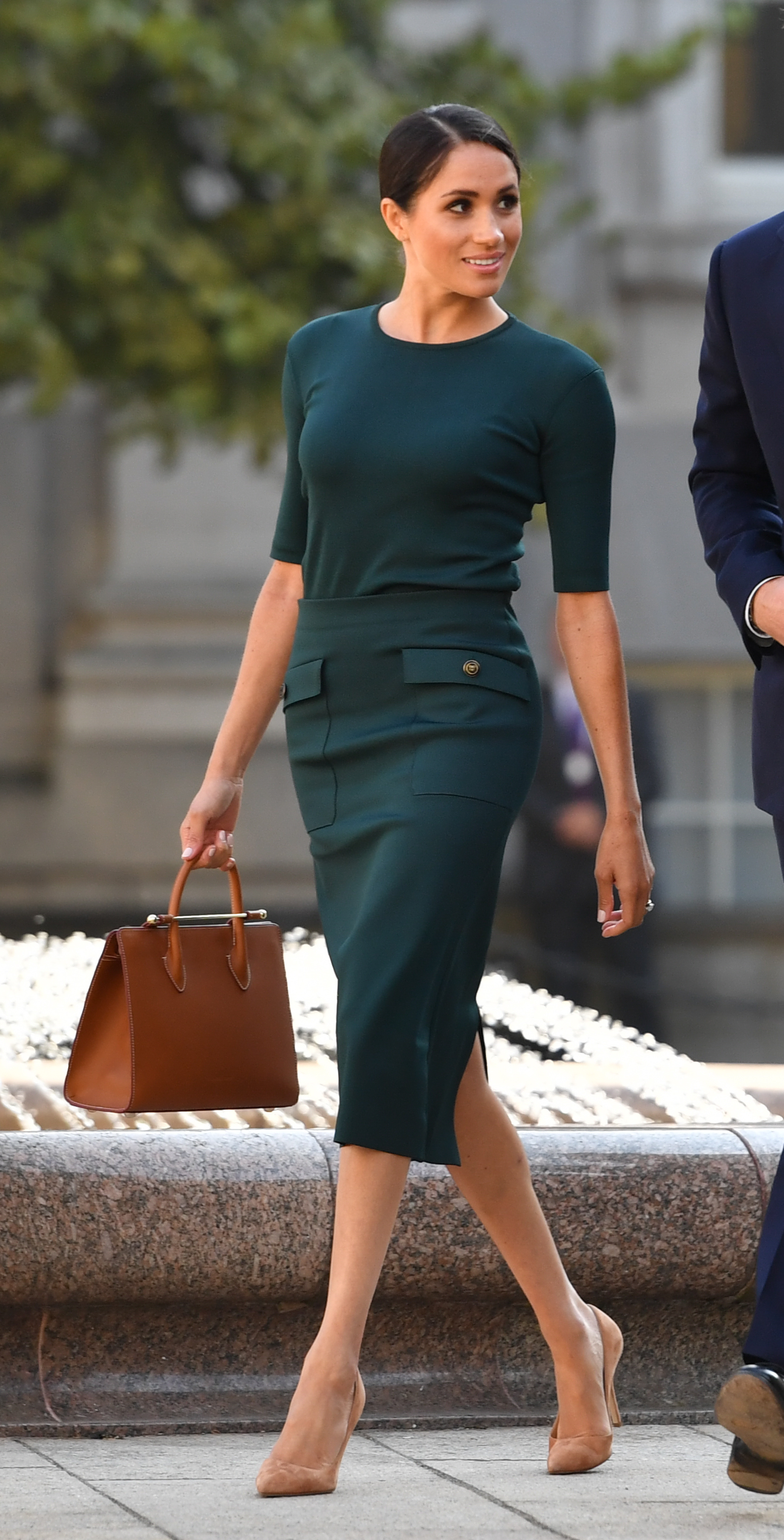The Duke and Duchess of Sussex are greeted by Taoiseach, Leo Varadkar (right) at Government Buildings during their visit to Dublin, Ireland. PRESS ASSOCIATION Photo. Picture date: Tuesday July 10, 2018. See PA story ROYAL Sussex. Photo credit should read: Joe Giddens/PA Wire