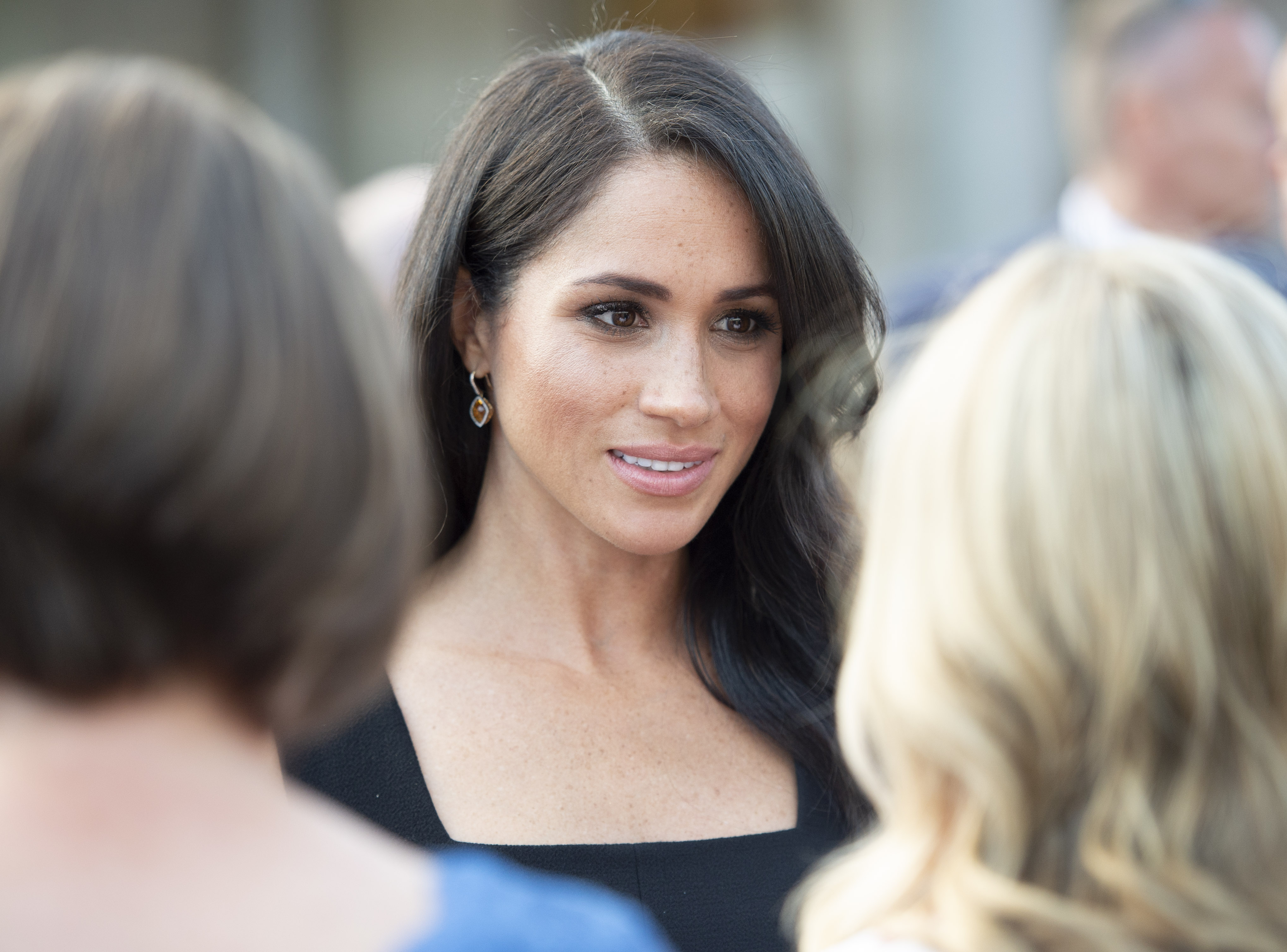 Meghan, Duchess of Sussex attends a reception at Glencairn, the residence of Robin Barnett, the British Ambassador to Ireland during day one of their visit to Ireland on July 10, 2018 in Dublin, Ireland.