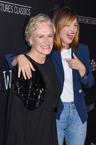 Glenn Close and Rose Byrne attend Sony Pictures Classics' Los Angeles Premiere of 'The Wife' at Pacific Design Center on July 23, 2018 in West Hollywood, California.