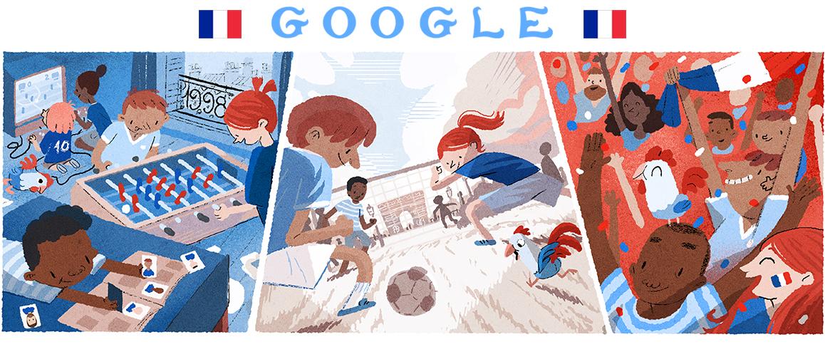 Helene Leroux's 2018 World Cup Google doodle