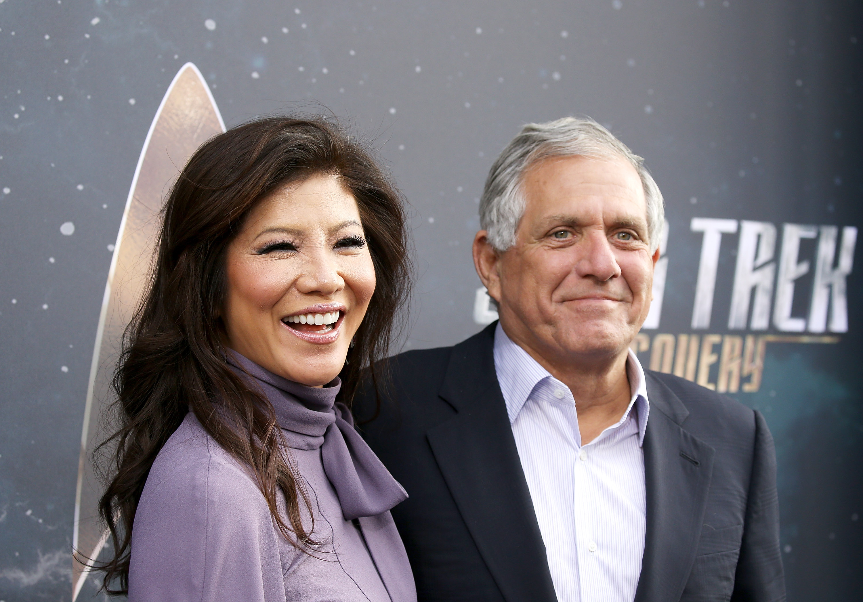Julie Chen and Les Moonves attend the Los Angeles premiere of CBS's  Star Trek: Discovery  held at The Cinerama Dome on September 19, 2017 in Los Angeles, California.