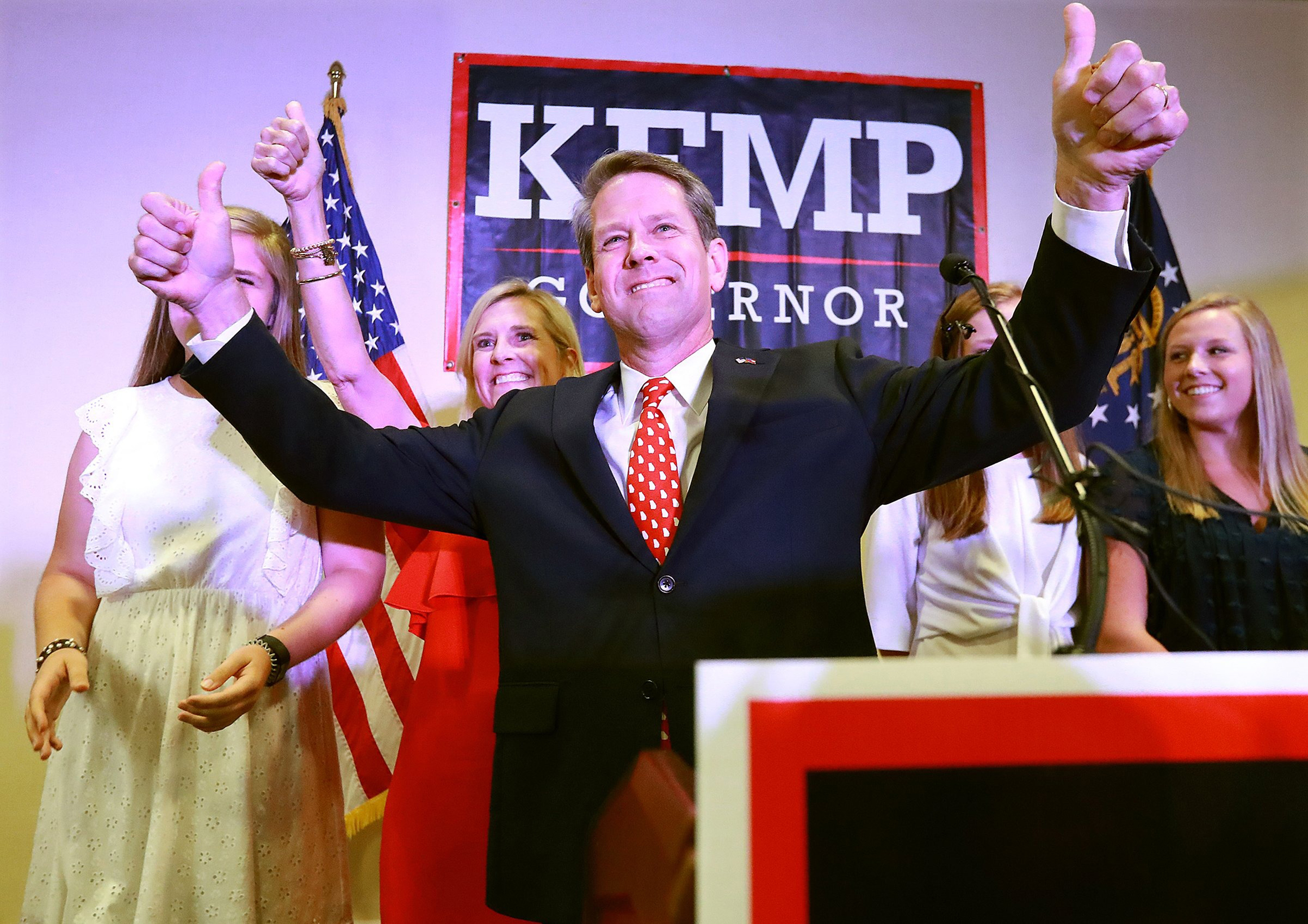 Abrams will face Kemp, who won a GOP runoff on July 24, in November's general election