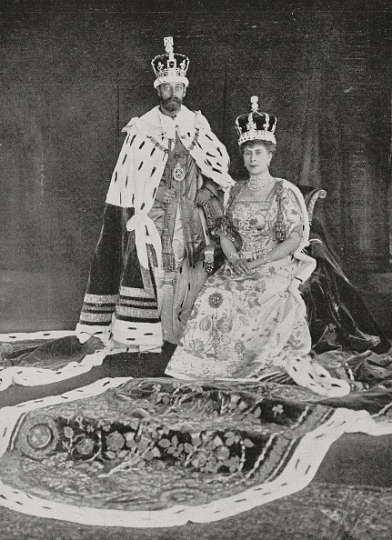 King George V and Queen Mary at Buckingham Palace