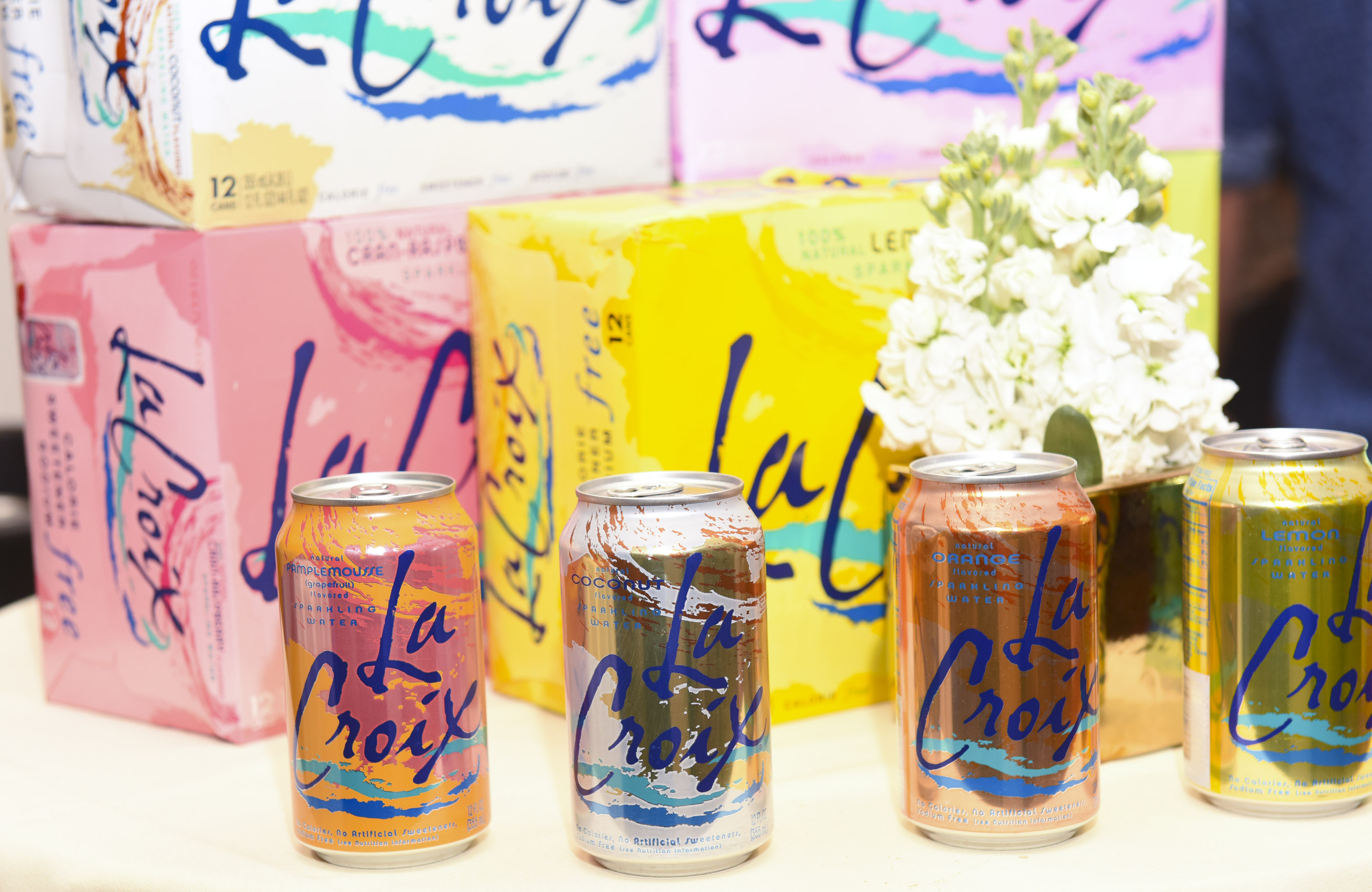 BEVERLY HILLS, CA - FEBRUARY 25:  LaCroix Sparkling Water at the ECOLUXE Pre-Oscars Celebrity Luxury Lounge on February 25, 2016 in Beverly Hills, California.