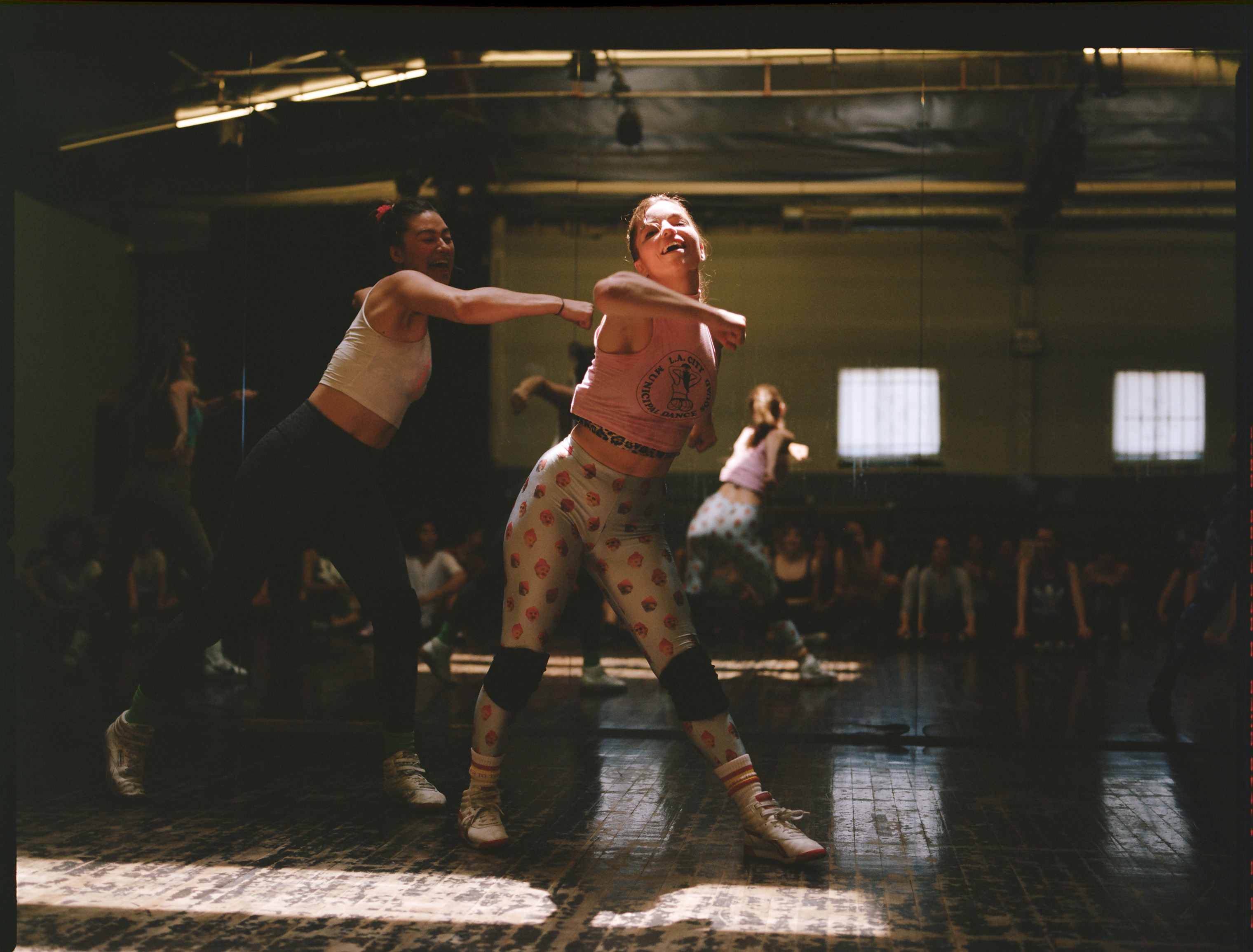 Bonnie Hernandez and Angela Trimbur choreograph the squad's routines together.