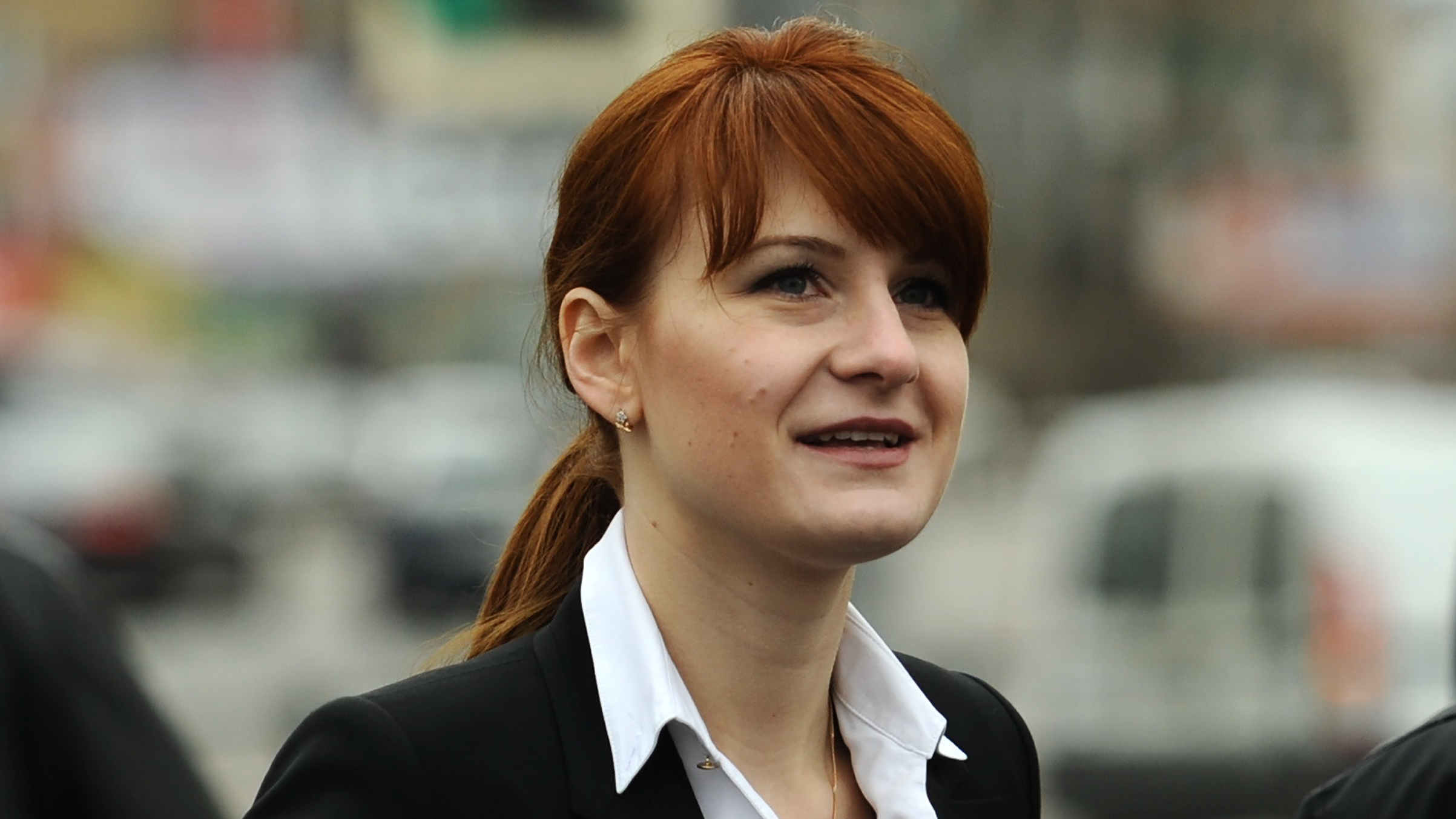 Maria Butina attends a rally at Krasnopresnenskaya Zastava Square in support of legalizing the possession of handguns, April 21, 2013.