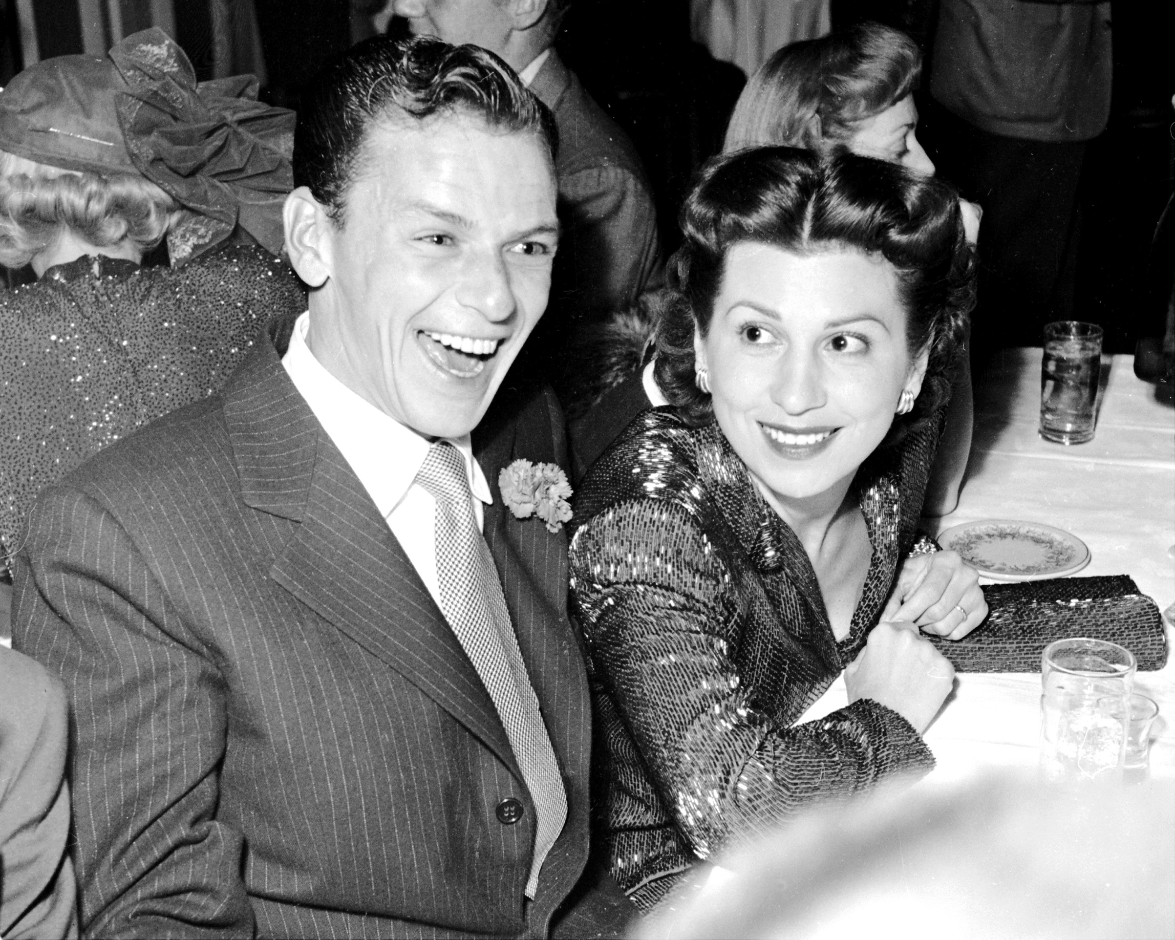 Frank Sinatra and Nancy Barbato Sinatra at the Mocambo in Hollywood on Jan. 11, 1949; they were married from 1939 to 1951.
