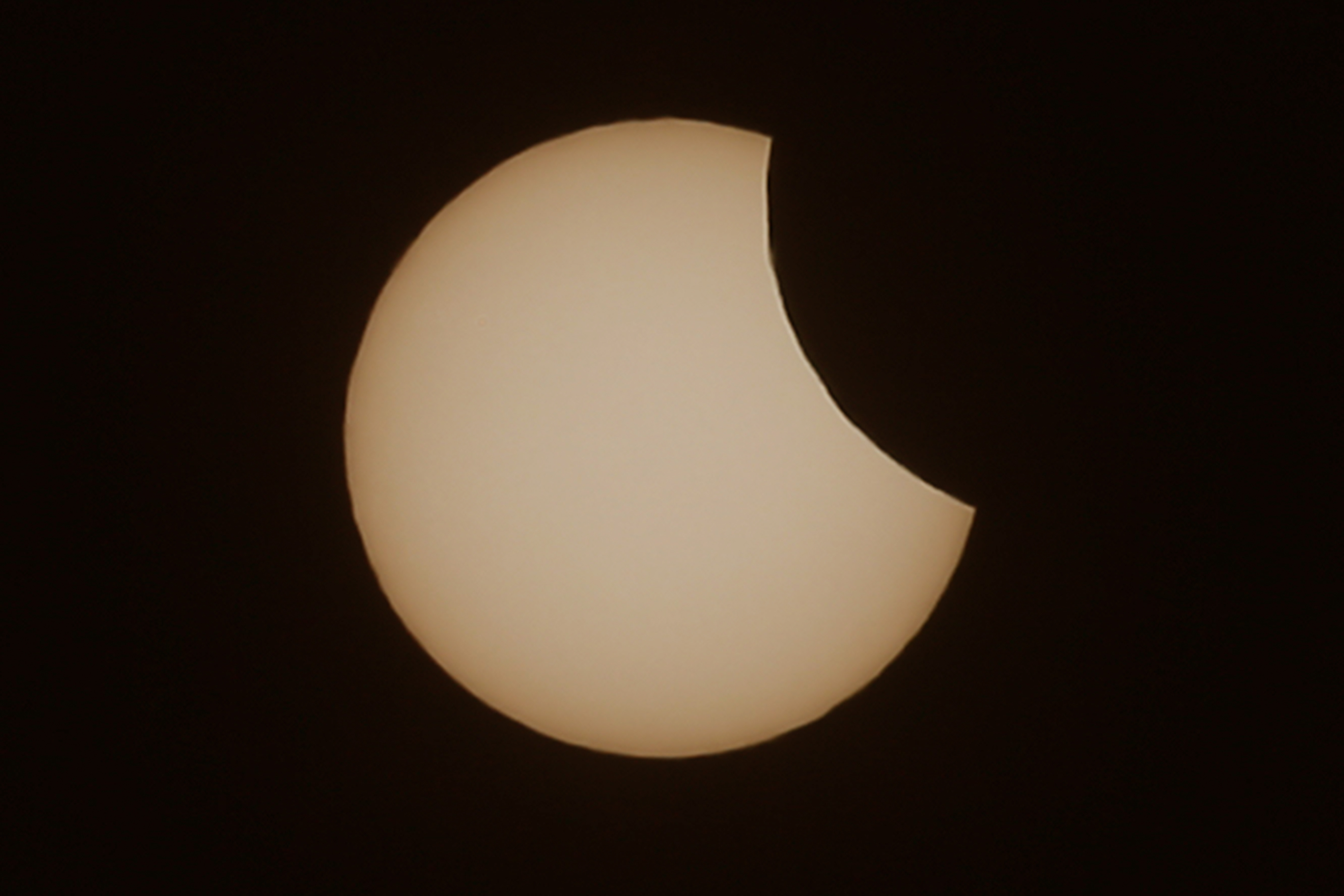 MUNICH, GERMANY - MARCH 20: The sun is pictured during a partial solar eclipse on March 20, 2015 in Muncih, Germany.
