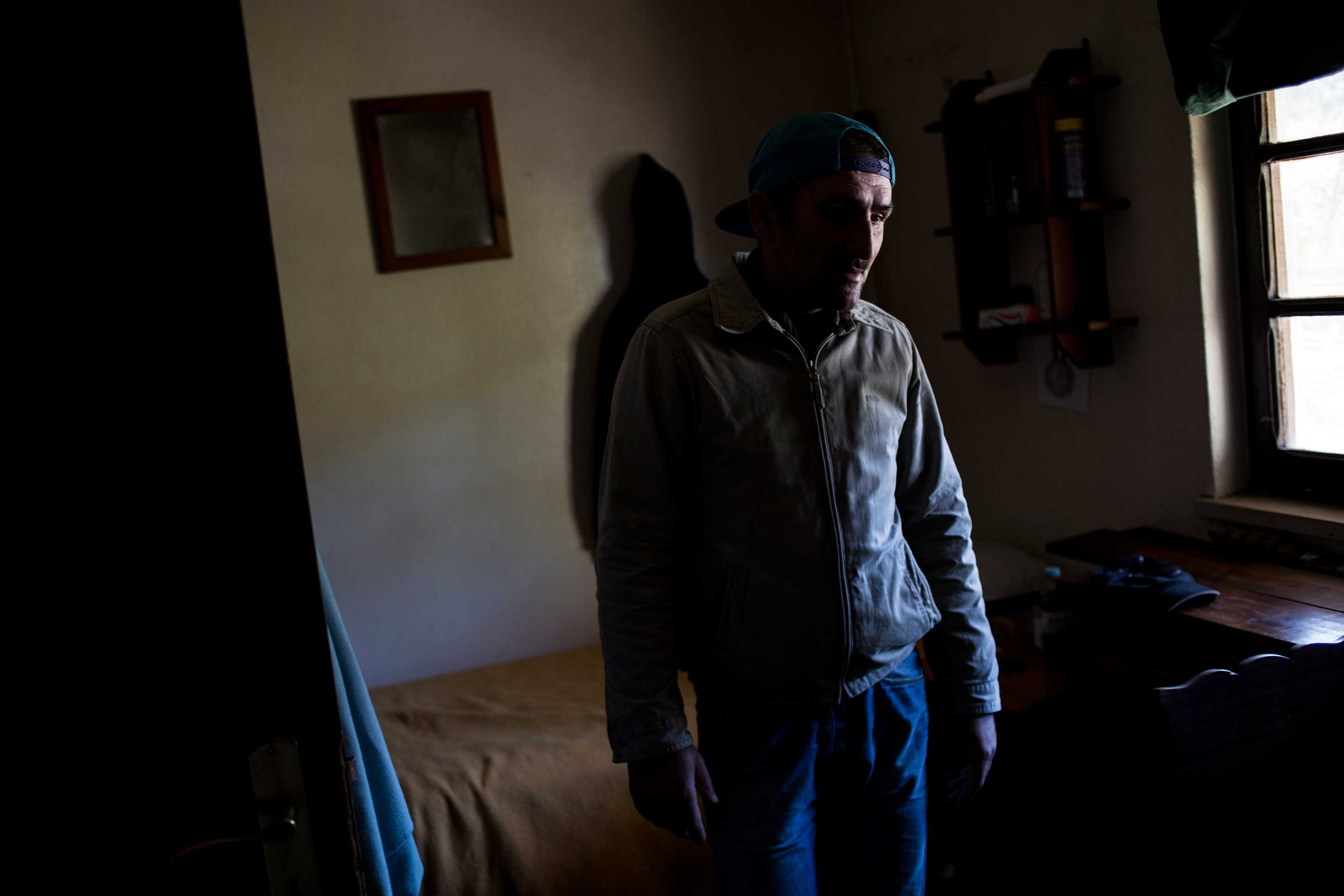 Carlos in his room after two months at the Ares do Pinhal Therapeutic Community, March 30, 2017.
