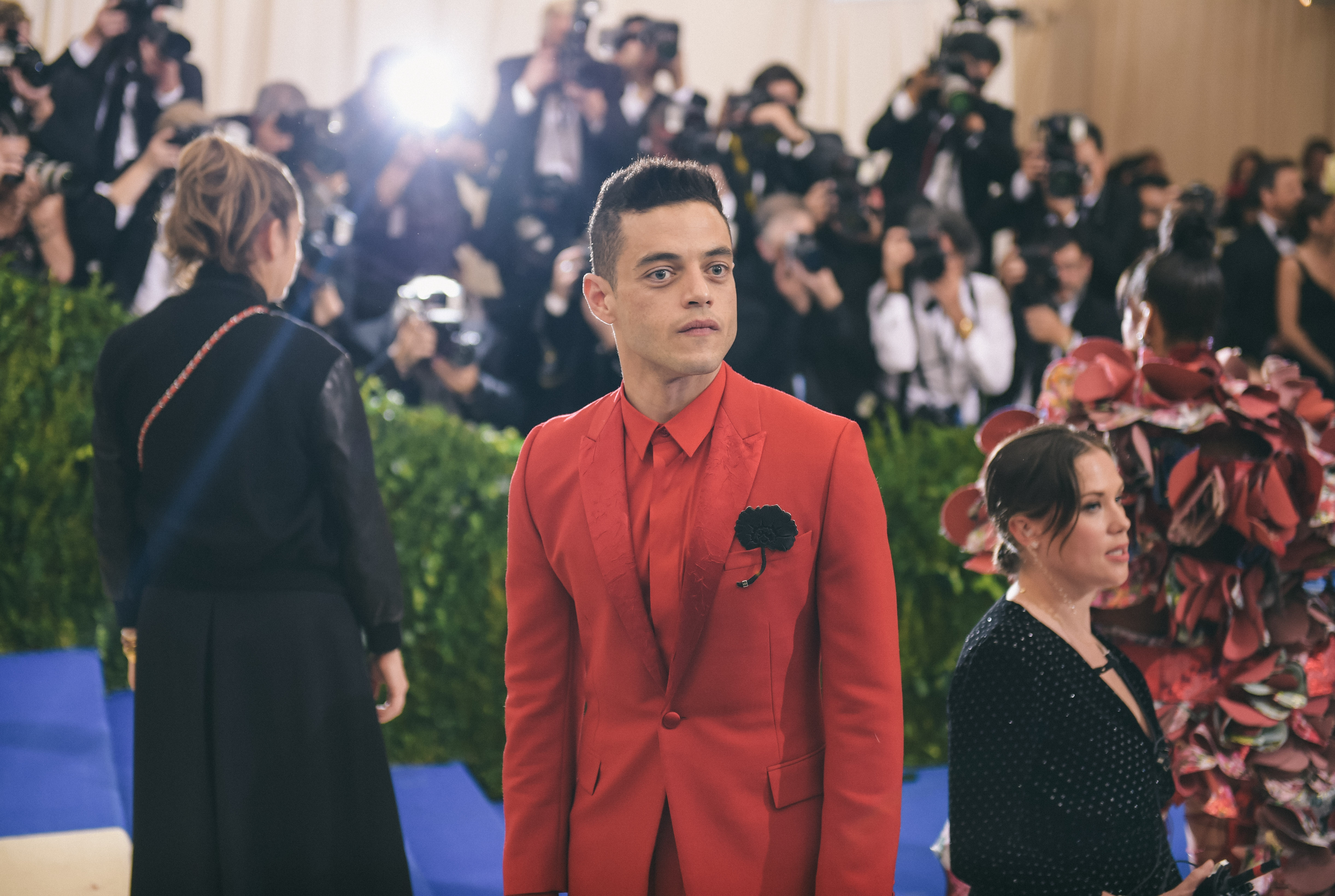 Actor Rami Malek attends the 'Rei Kawakubo/Comme des Garcons: Art Of The In-Between' Costume Institute Gala at Metropolitan Museum of Art in New York, NY on May 1, 2017.
