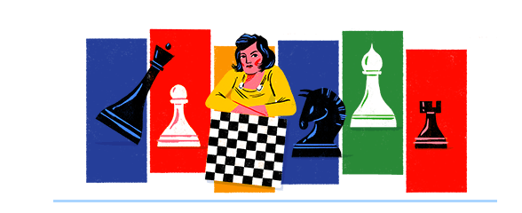Google honored Woman's World Chess Champion Lyudmila Rudenko on her 114th birthday.