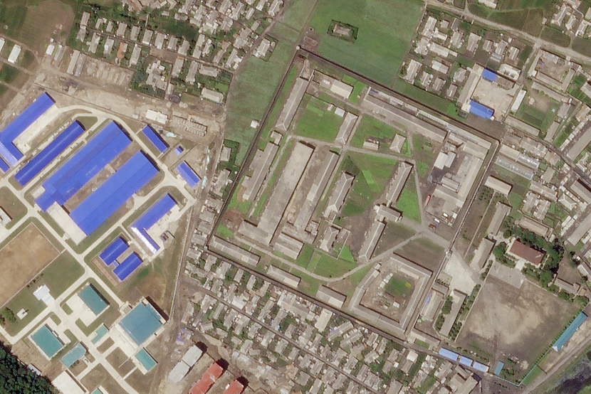A North Korean missile production facility in the city of Hamhung is seen from a satellite image taken on June 29, 2018.