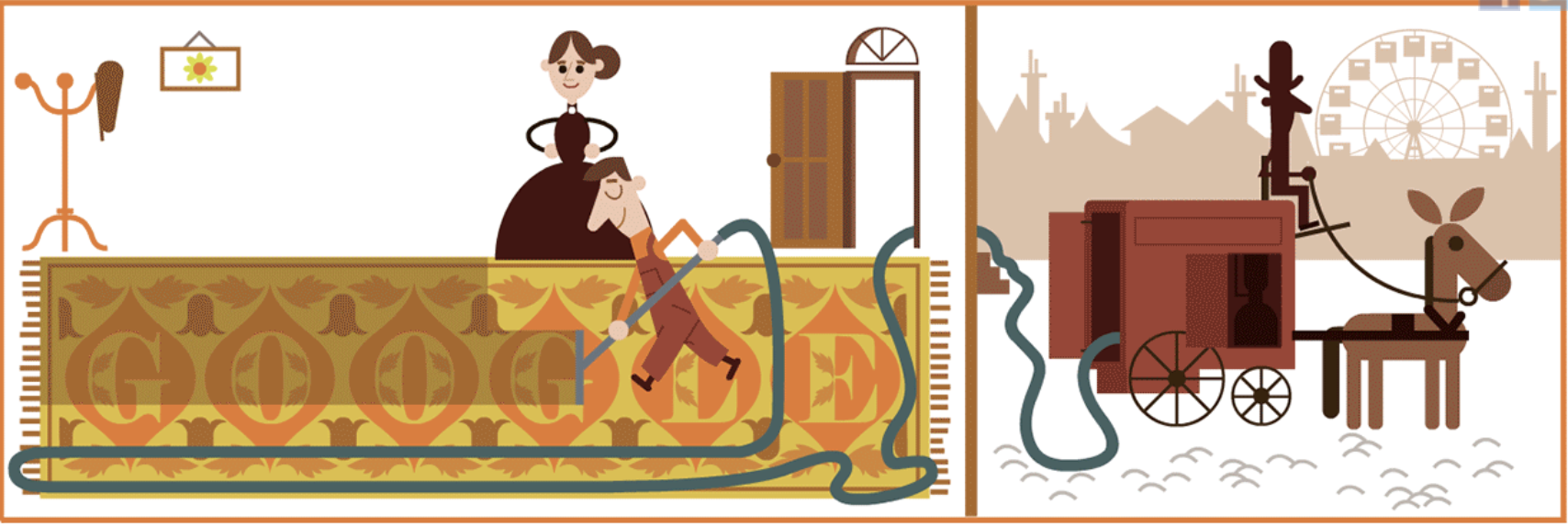 Google Doodle celebrates British engineer Hubert Cecil Booth, inventor of the vacuum cleaner on July 4, 2018.