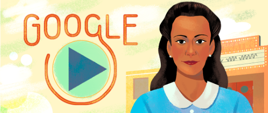 Google Doodle marking what would have been the 104th birthday of Viola Desmond.