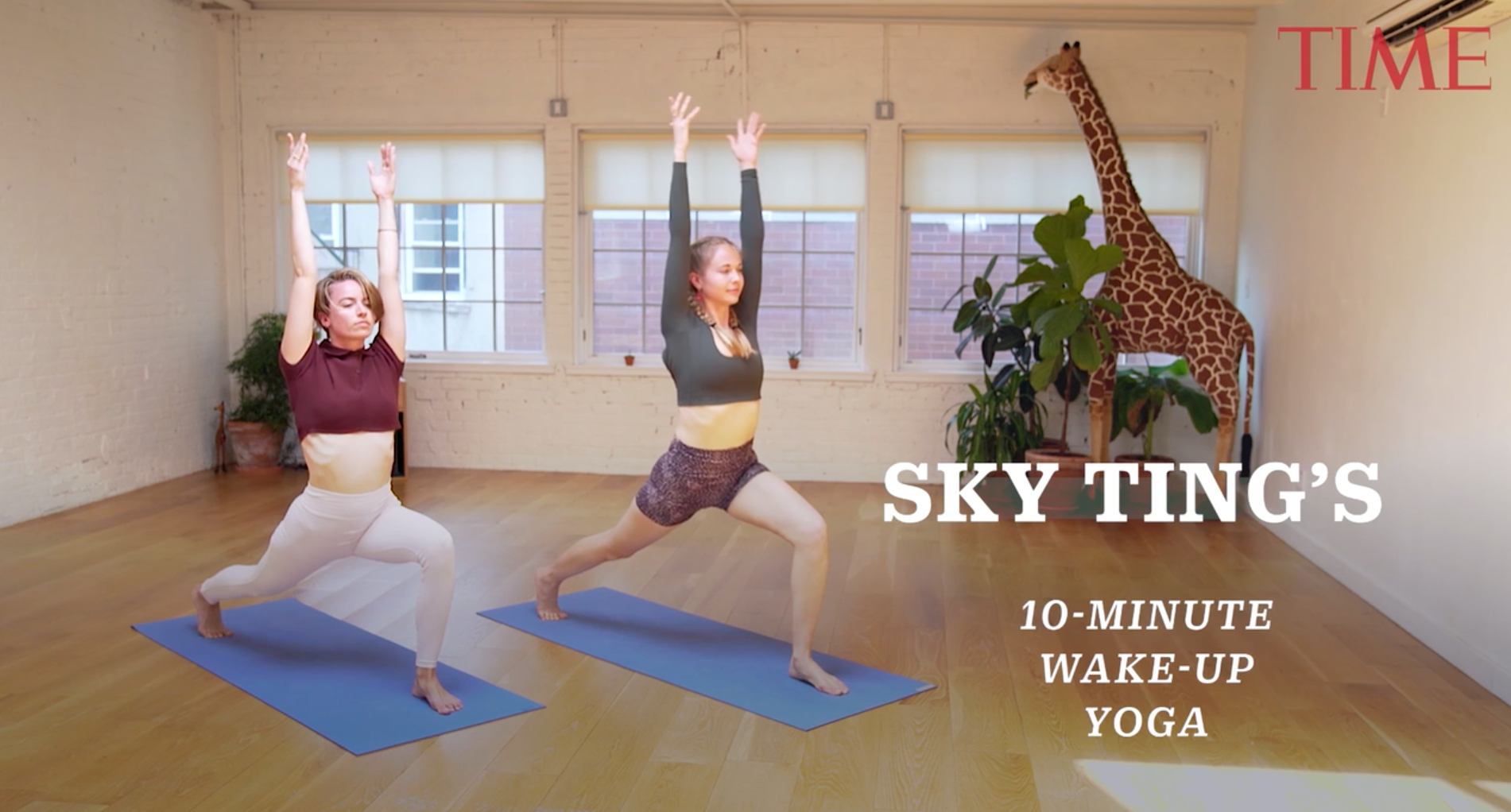 The Sky Ting founders, Krissy Jones and Chloe Kernaghan, share a 10-minute morning yoga routine.