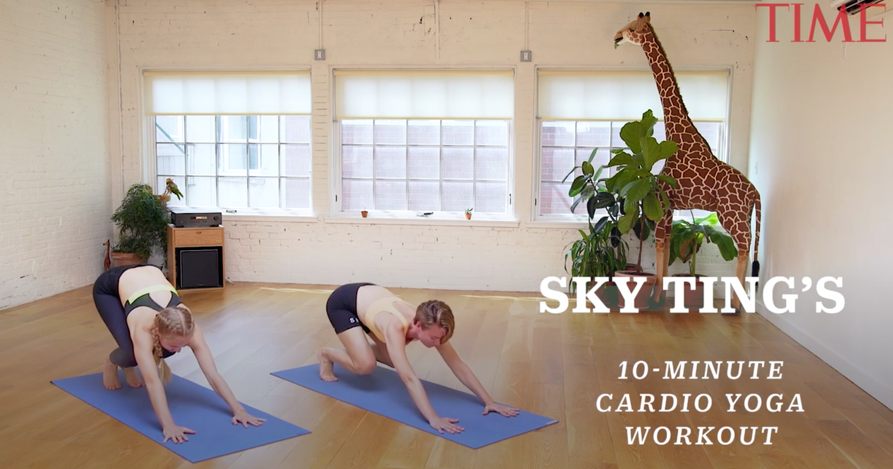 Get your heart rate up with this fun cardio yoga workout.