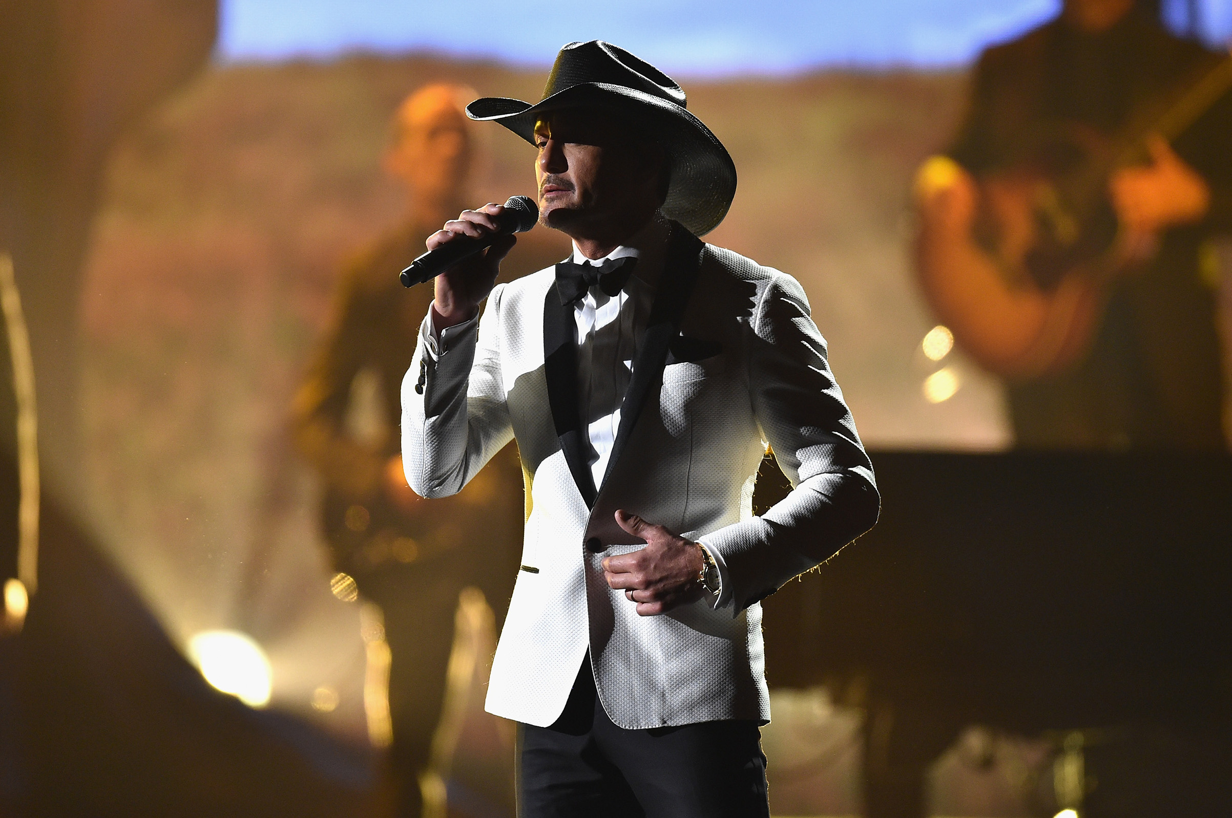 Tim McGraw performs onstage at the 51st annual CMA Awards at the Bridgestone Arena on Nov. 8, 2017.