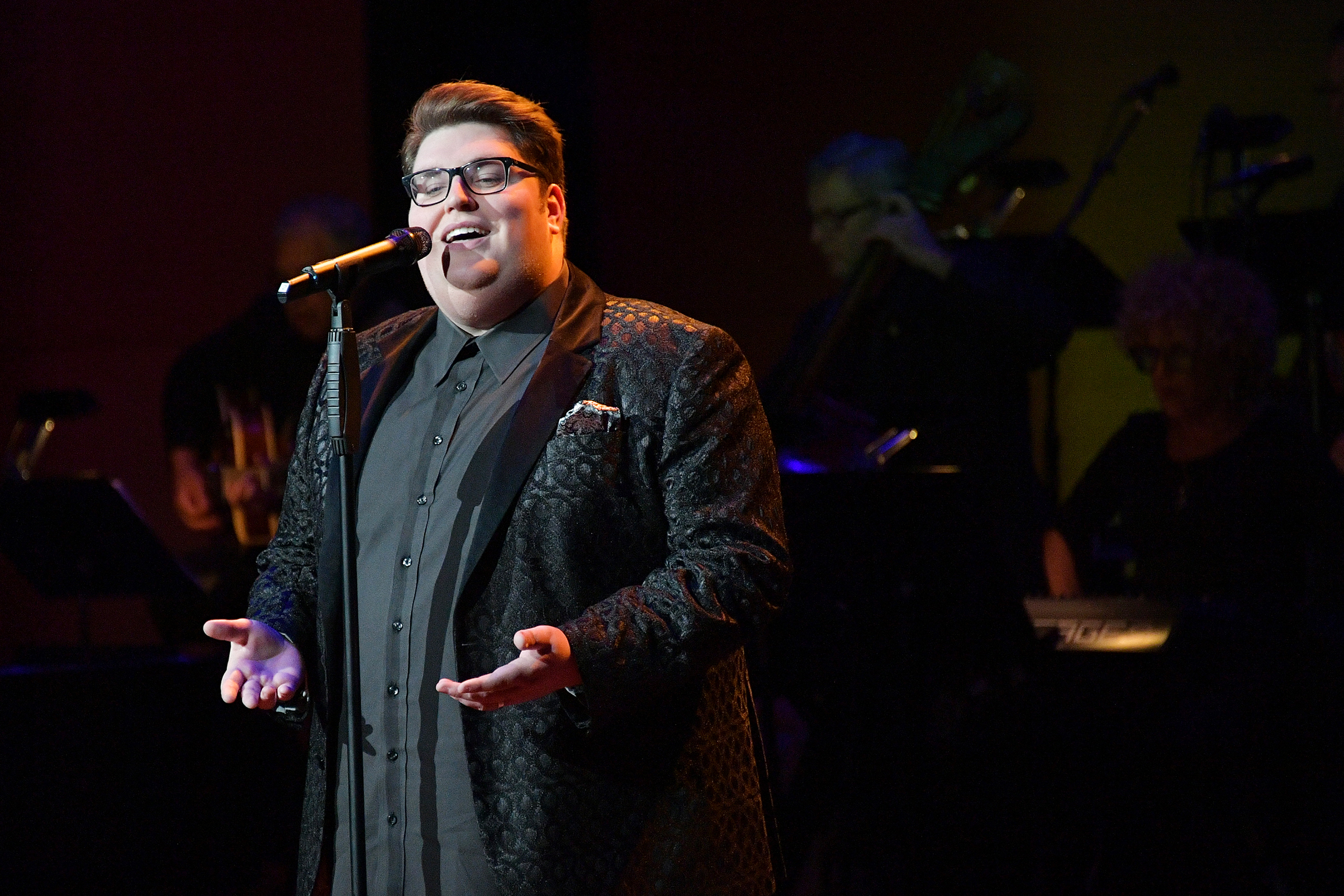 Singer Jordan Smith performs onstage during Lincoln Center's American Songbook Gala at Alice Tully Hall on May 29, 2018.