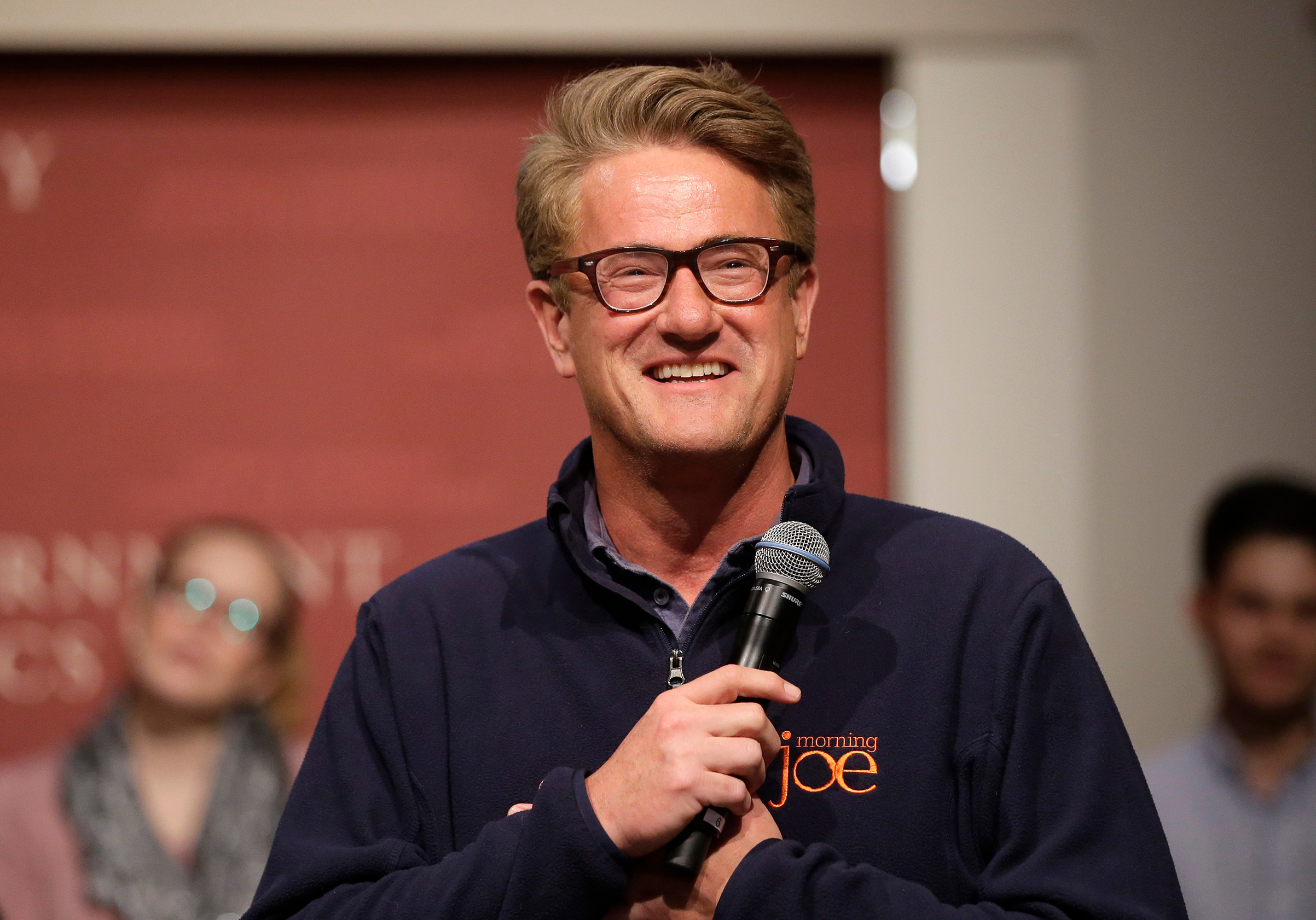 MSNBC television anchor Joe Scarborough, co-hosts of the show  Morning Joe,  takes questions from an audience, at a forum on Oct. 11, 2017.