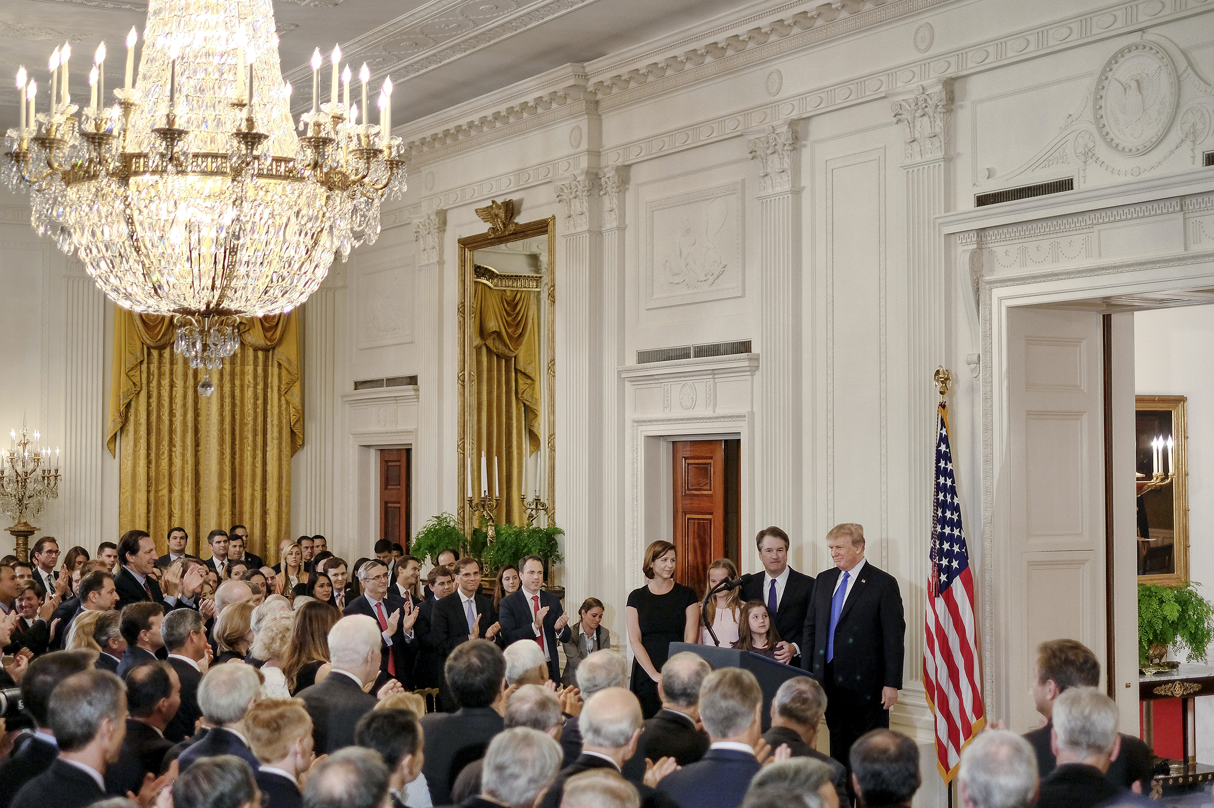 President Trump nominated                      Brett Kavanaugh to the Supreme Court in a prime-time address from the East Room on July 9
