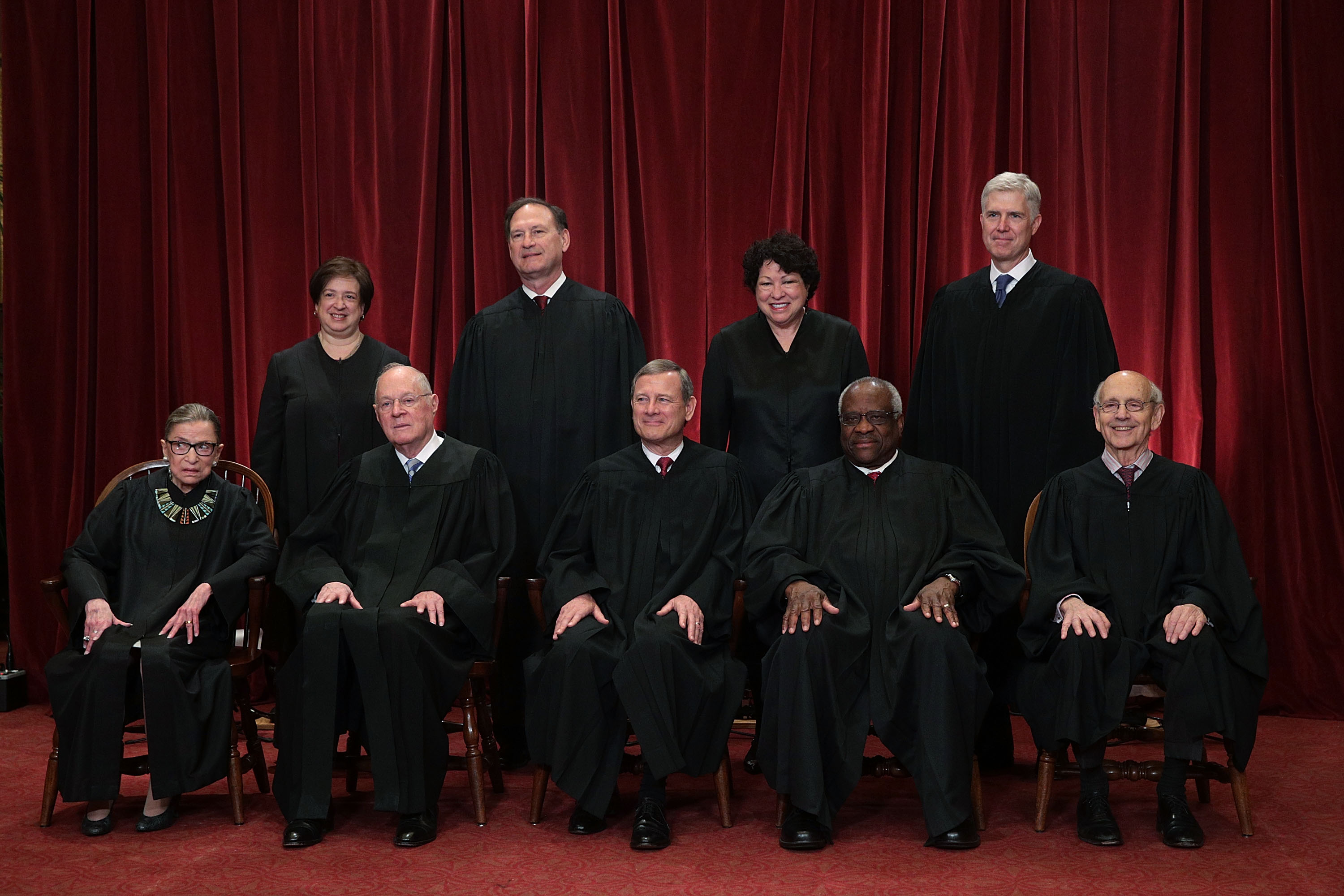 The U.S. Supreme Court held a photo opportunity for photographers after Justice Gorsuch joined as the newest member.