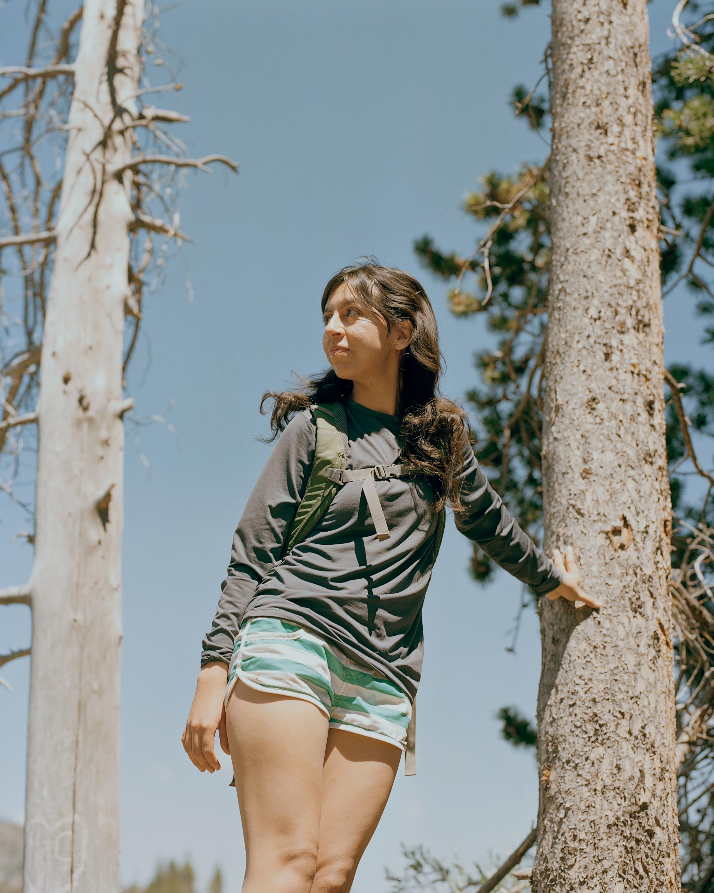 Bianca Garcia at Sprague Lake in Rocky Mountain National Park, June 29, 2018.