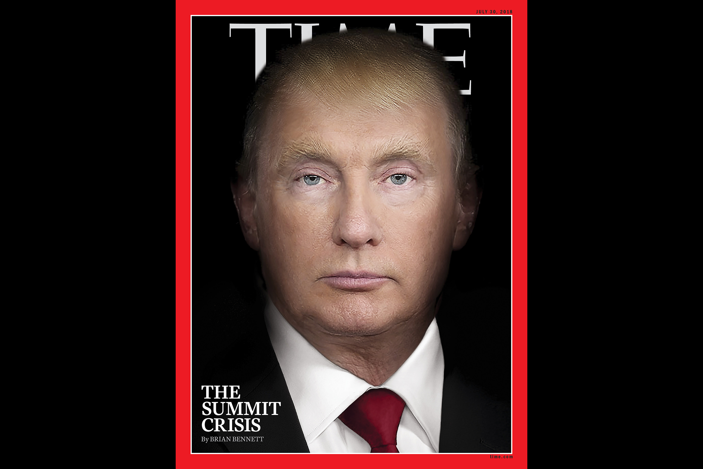 The Story Behind Time S Trump And Putin Summit Cover Time