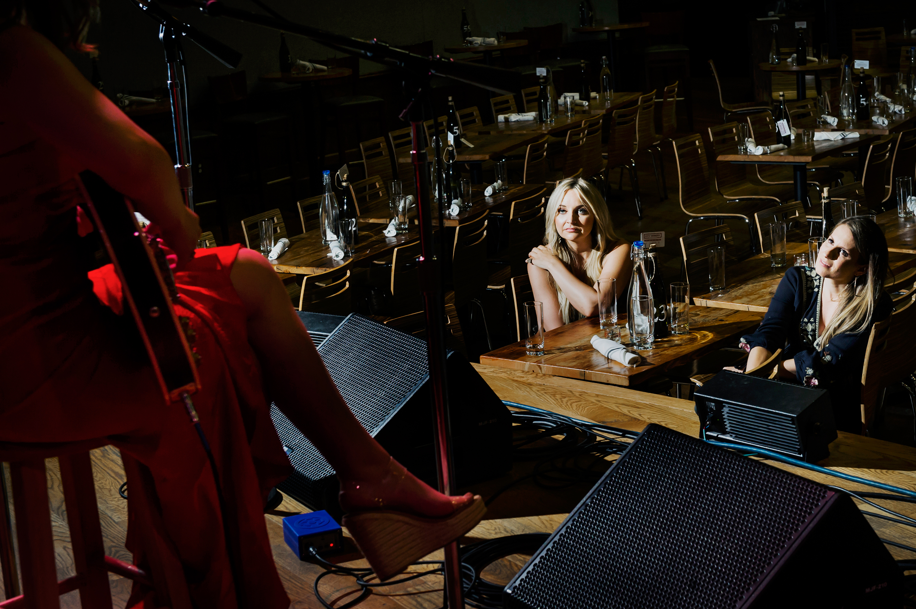 Morgan and Smith watch Chapman perform during sound check before the Girls of Nashville summer concert at City Winery.