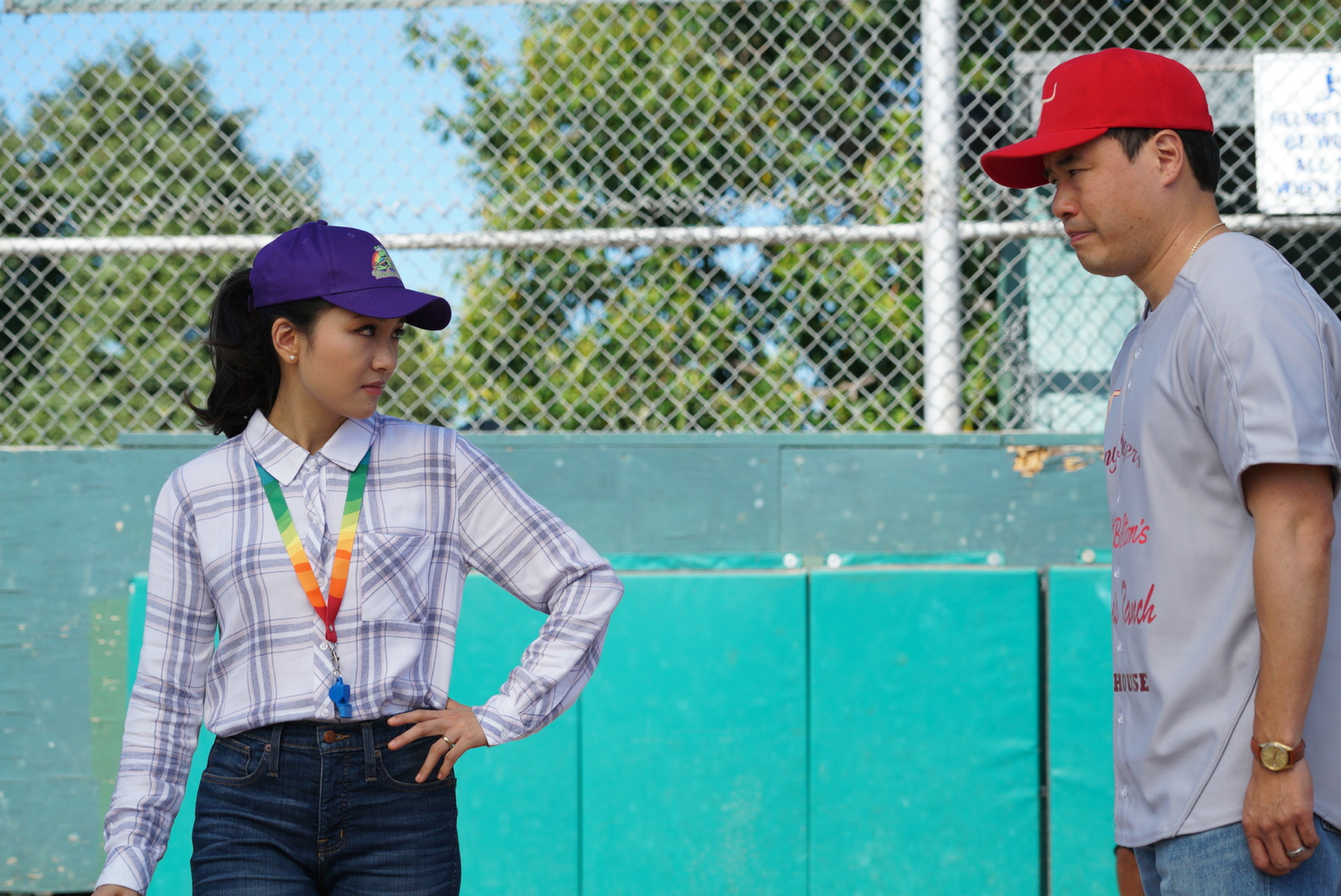 Constance Wu and Randall Park in Fresh Off the Boat