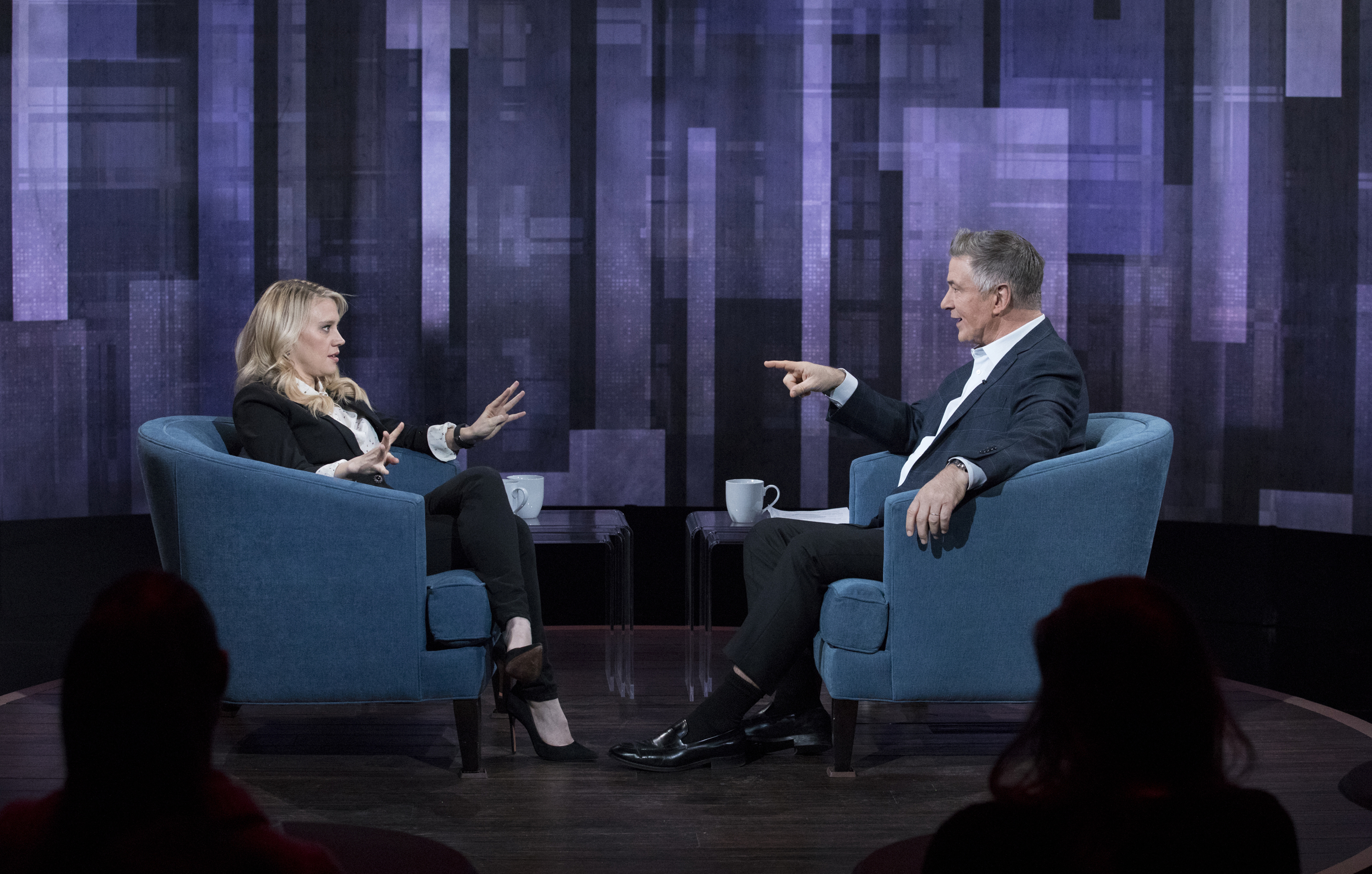 Kate McKinnon and Alec Baldwin on The Alec Baldwin Show