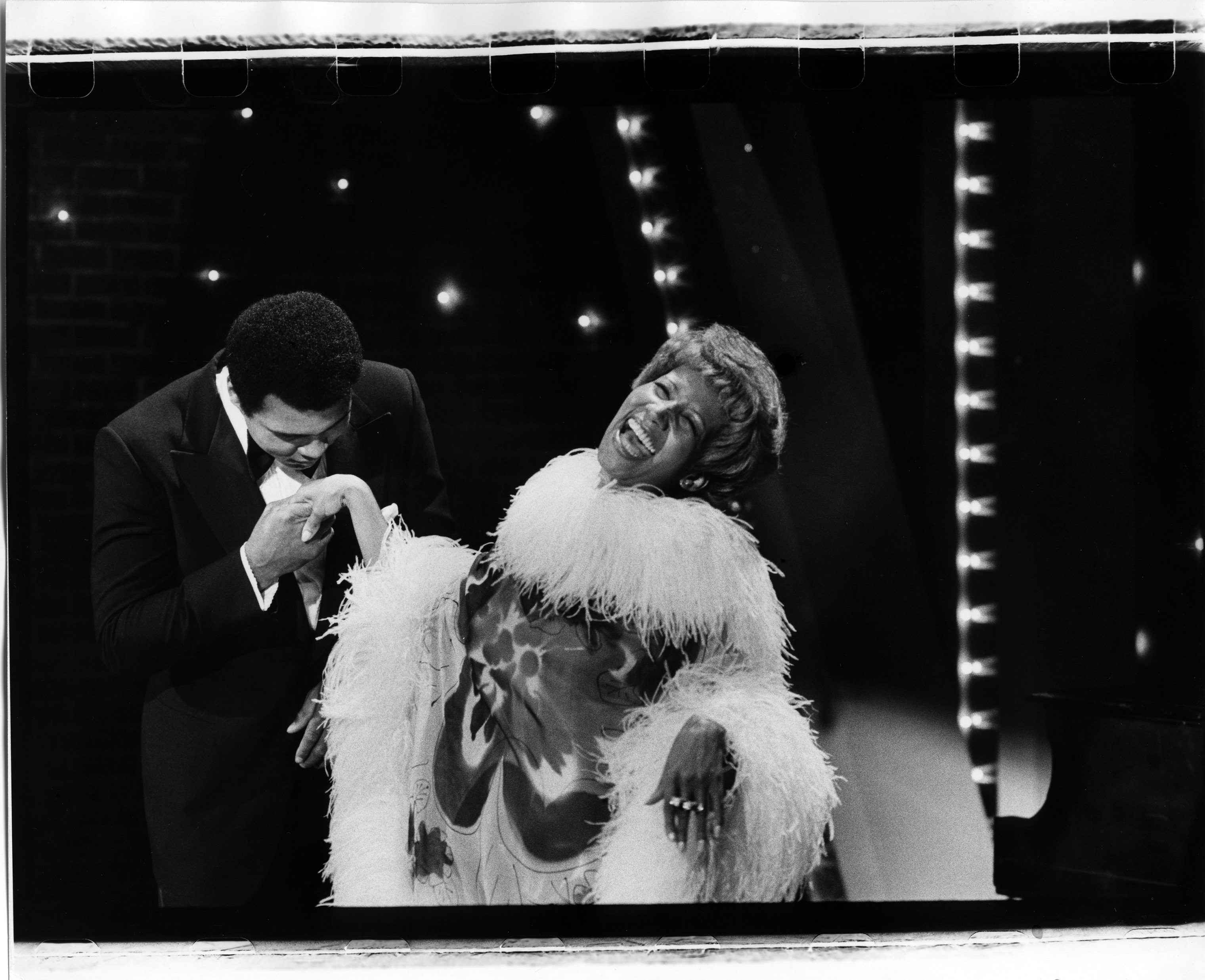Muhammad Ali, left, and Aretha Franklin on The Muhammad Ali Variety Show in 1975.