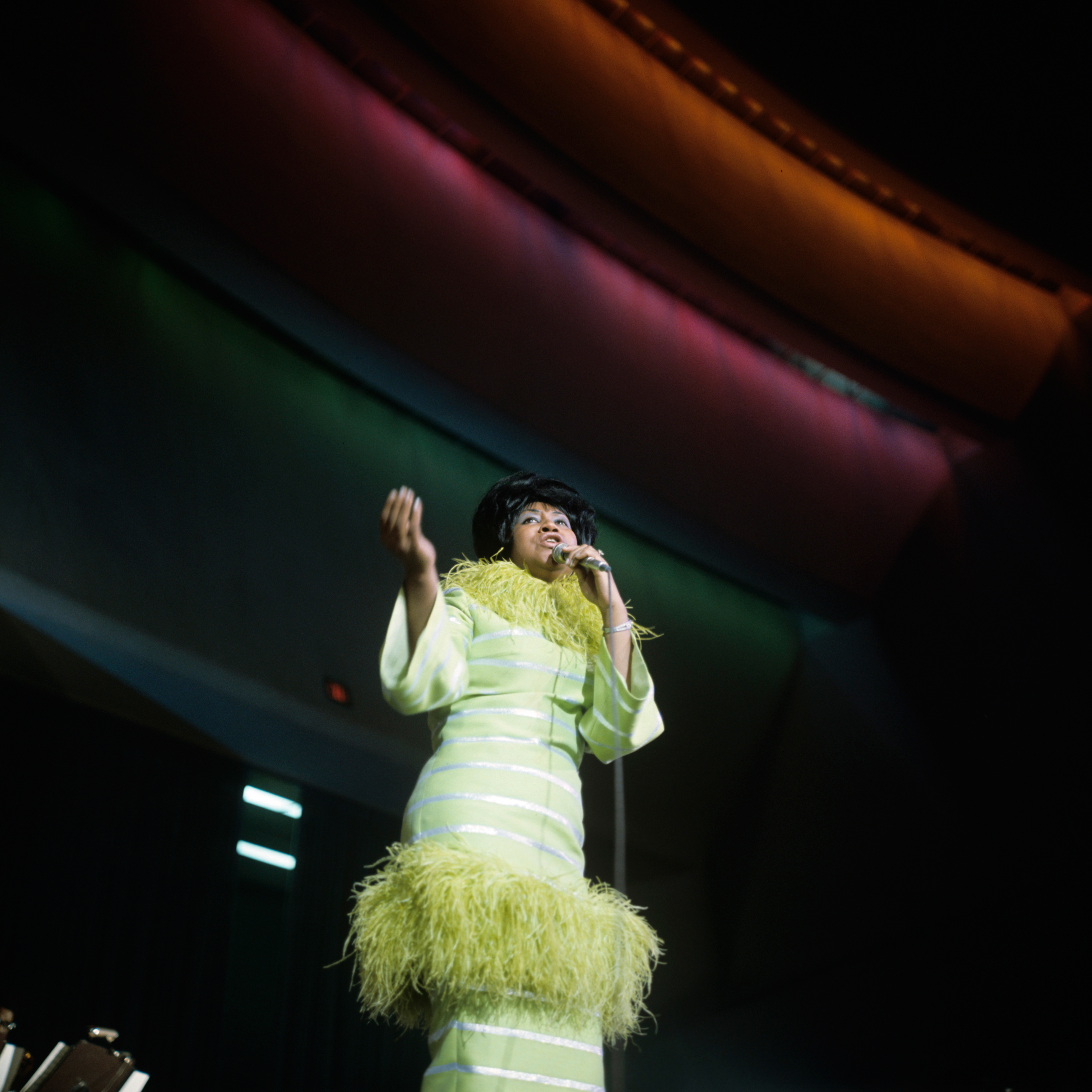 Aretha Franklin performs in 1969.
