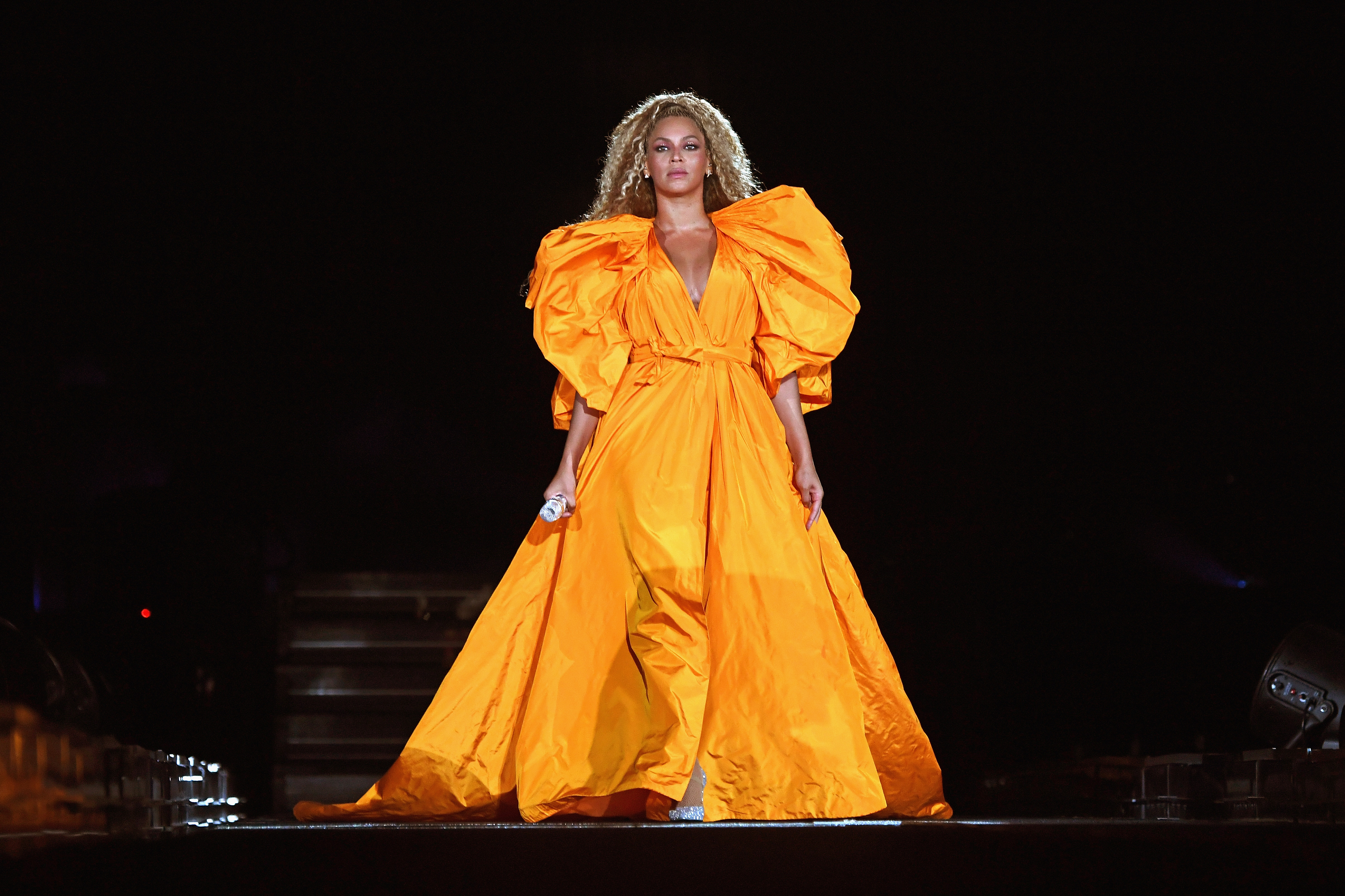 Beyonce performs onstage during the  On The Run II  Tour - New Jersey at MetLife Stadium on August 2, 2018 in East Rutherford, New Jersey.  (Photo by Larry Busacca/PW18/Getty Images for Parkwood Entertainment)