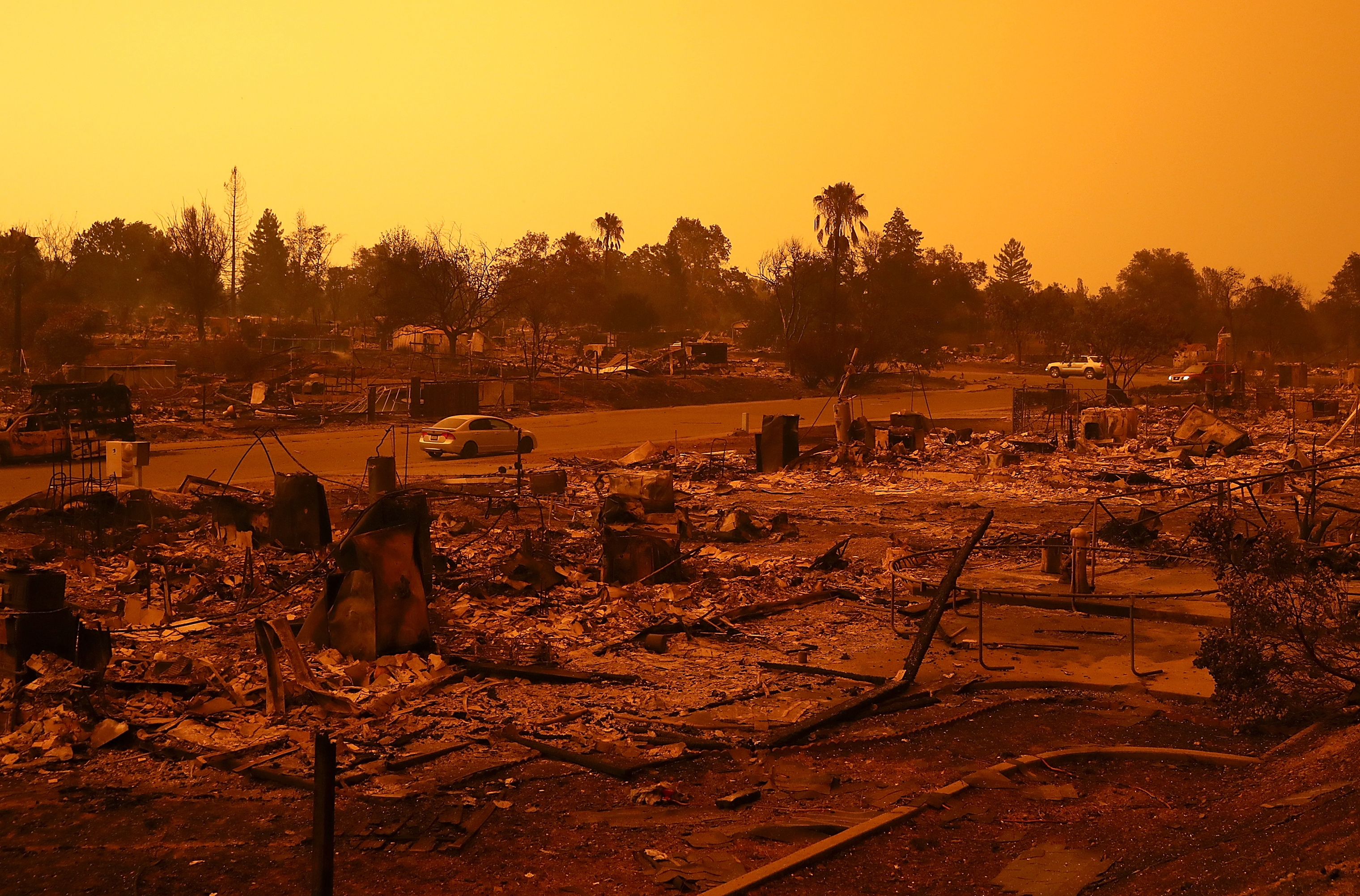 A view of homes that were destroyed by the Carr Fire in Redding, Calif., on July 27.