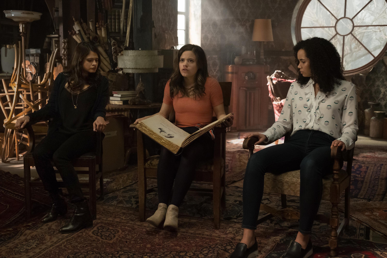 Melonie Diaz, Sarah Jeffery and Madeleine Mantock in Charmed