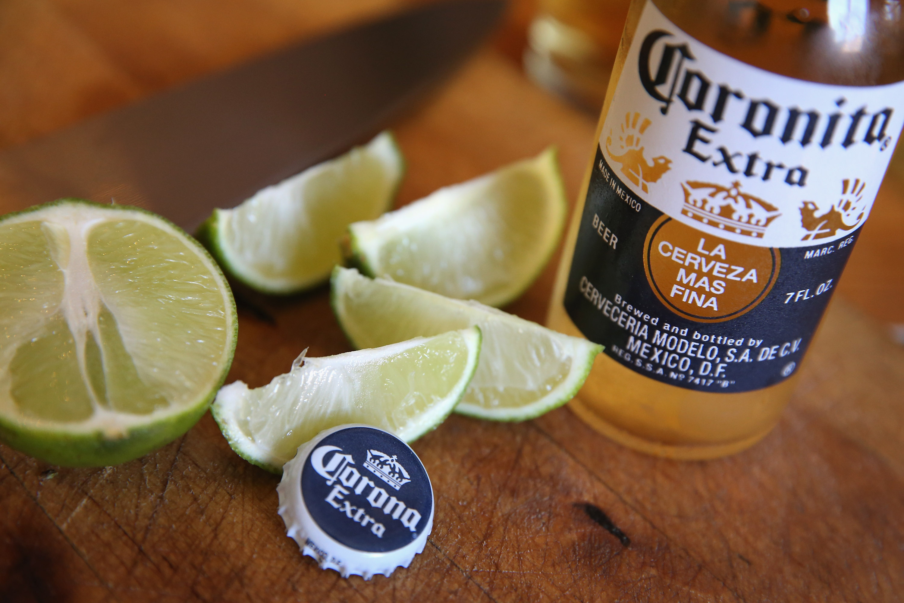 In this photo illustration, bottles of Corona beer are shown on June 7, 2013 in Chicago, Illinois.