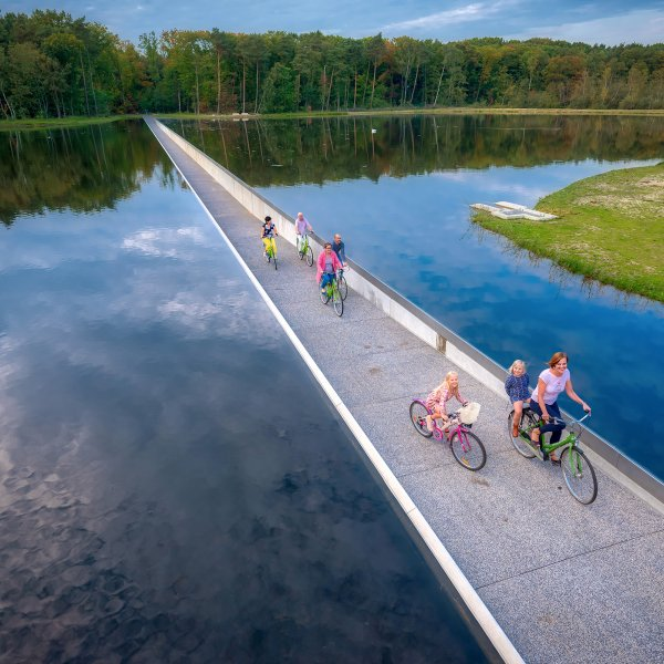 cycling-through-water-genk-belgium