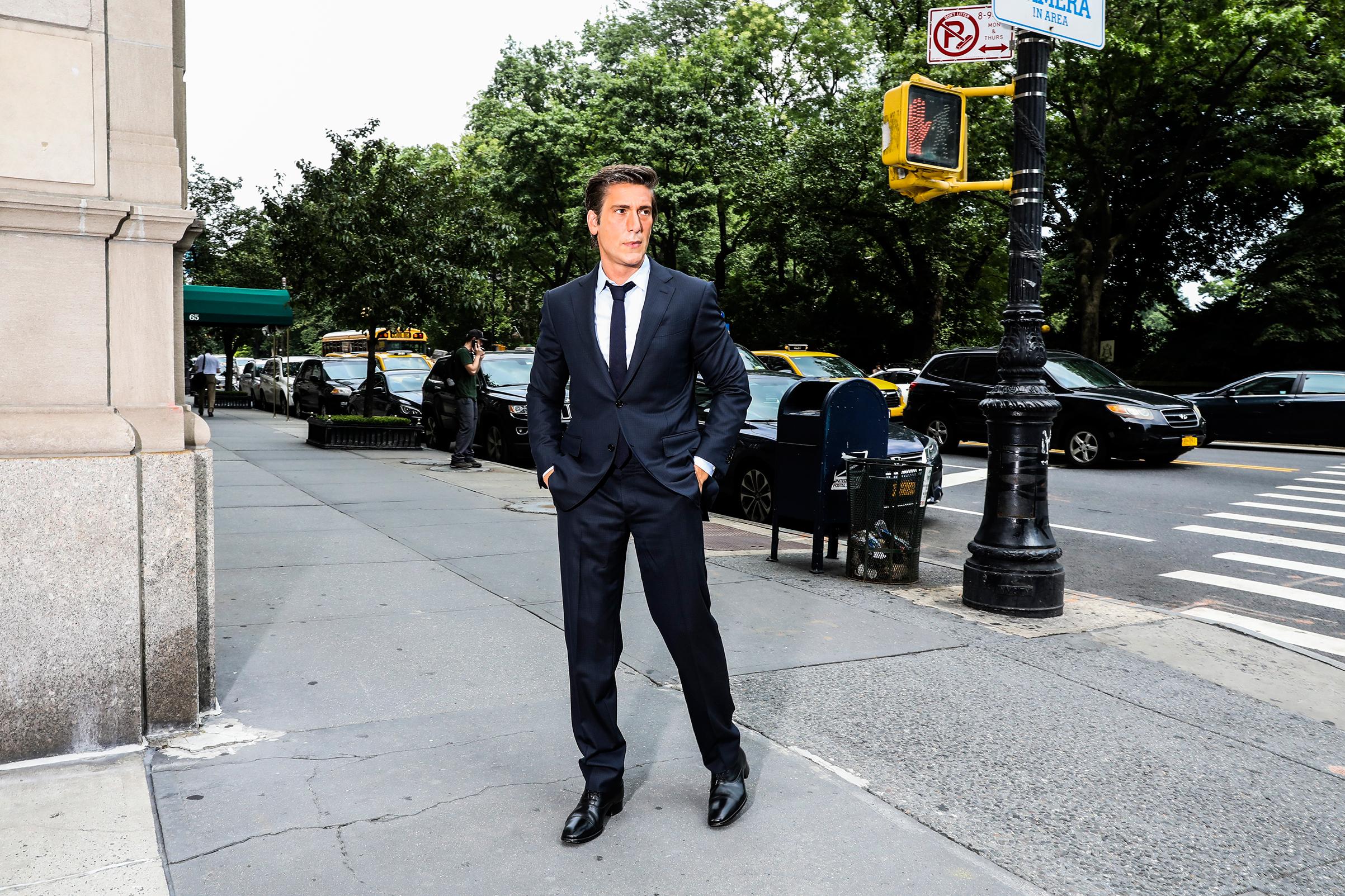 ABC World News Tonight anchor David Muir in Manhattan on Aug. 7, 2018.