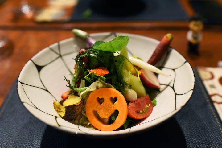 A dish at Den restaurant in Tokyo