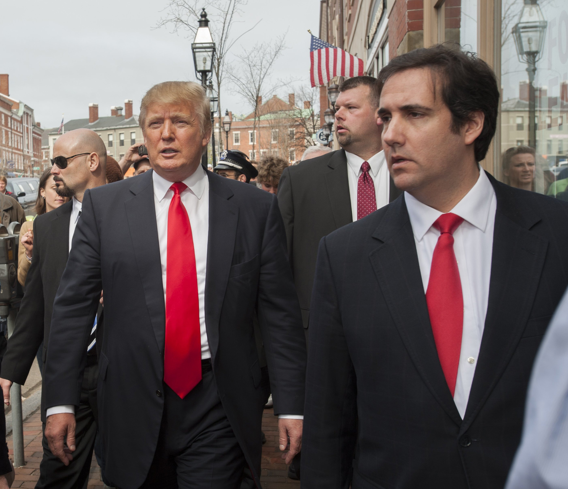 Trump and Cohen visit Portsmouth, N.H., in April 2011