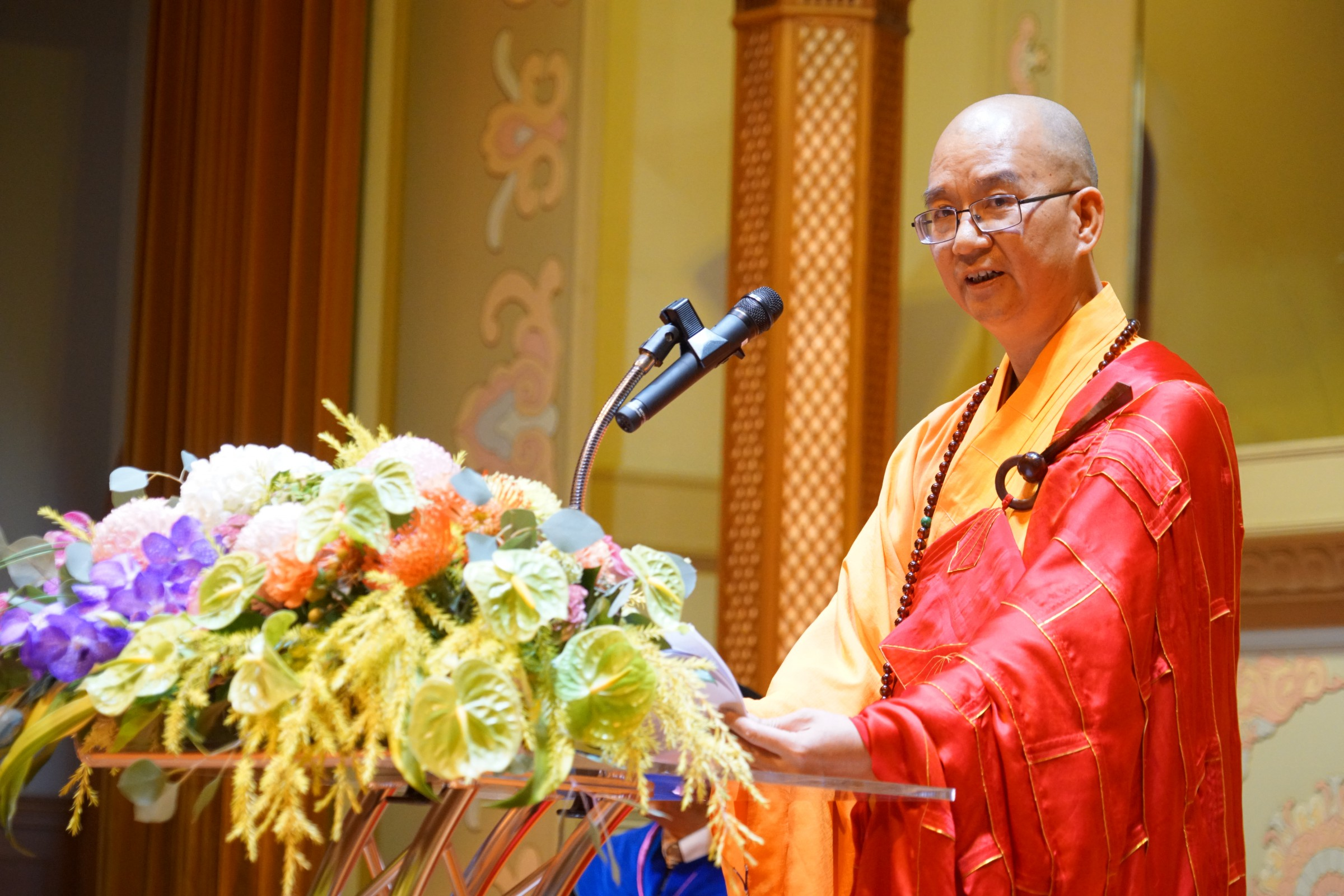 Venerable Master Xuecheng in Kaohsiung, Taiwan on Sept.12, 2017.