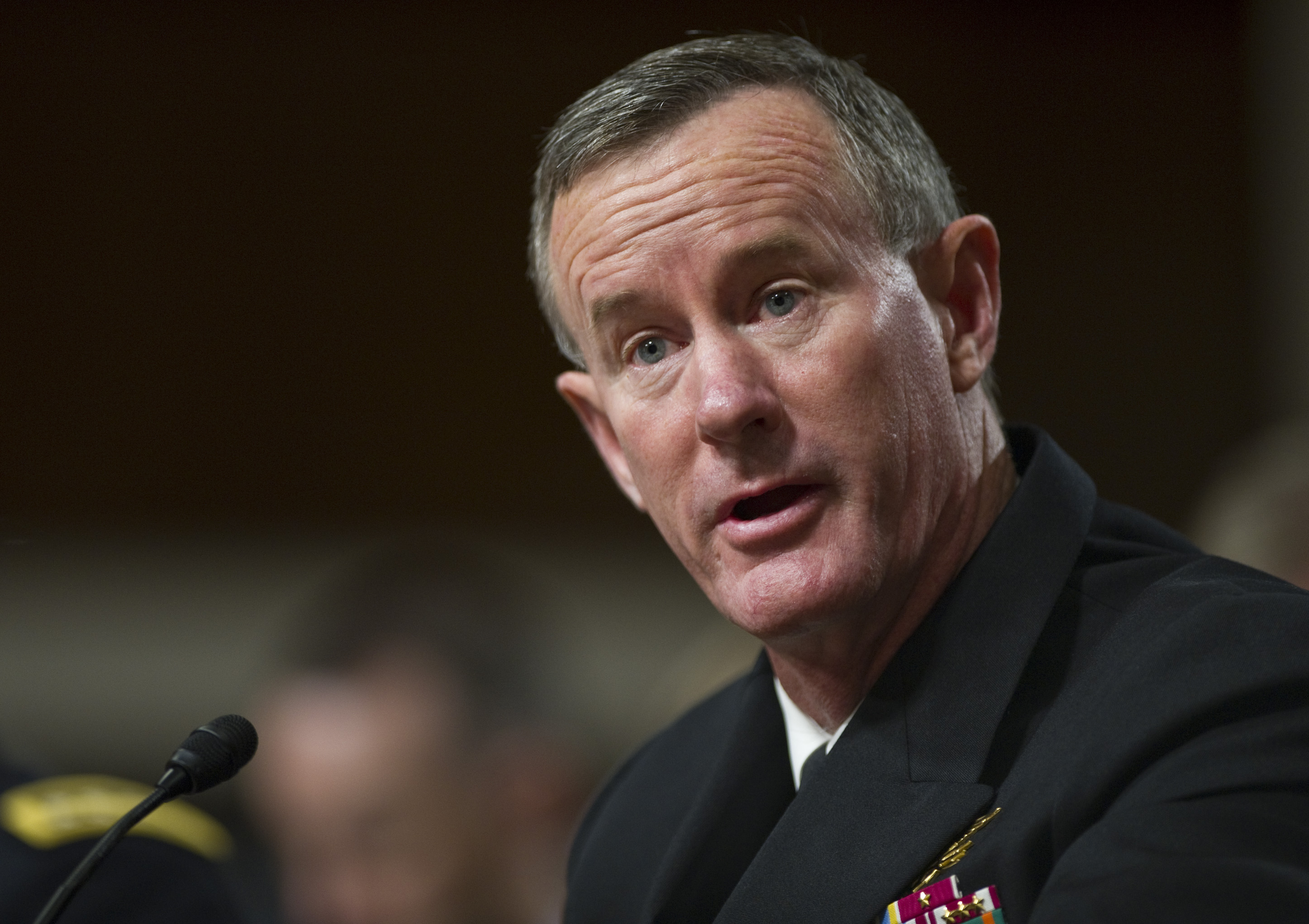 June 28: Vice Adm. William H. McRaven, nominated to be admiral and commander, U.S. Special Operations Command; during the Senate Armed Services hearing on his nomination.