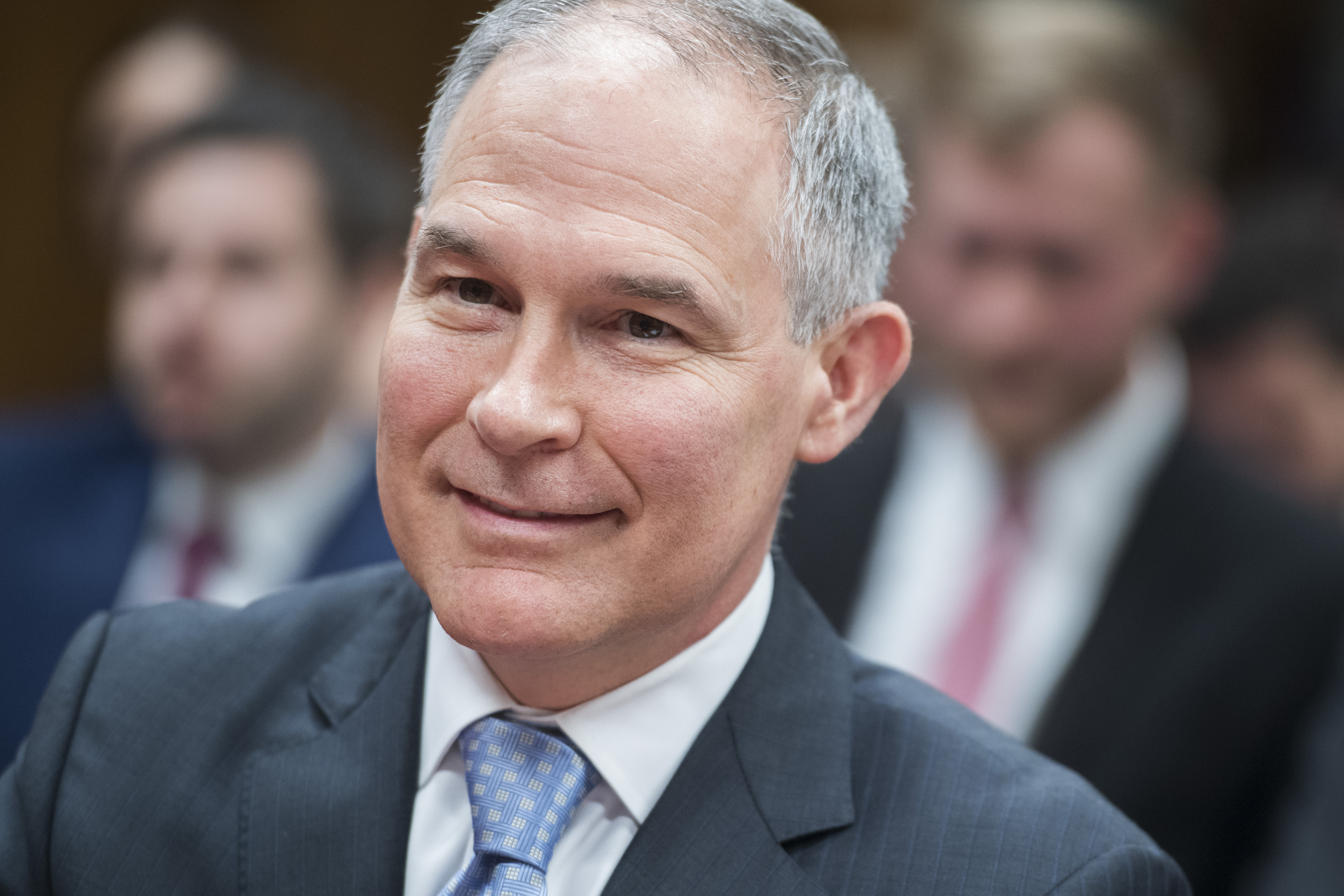 Former Environmental Protection Agency Administrator Scott Pruitt on May 16, 2018. Pruitt reversed an Obama-era effort to ban chlorpyrifos,