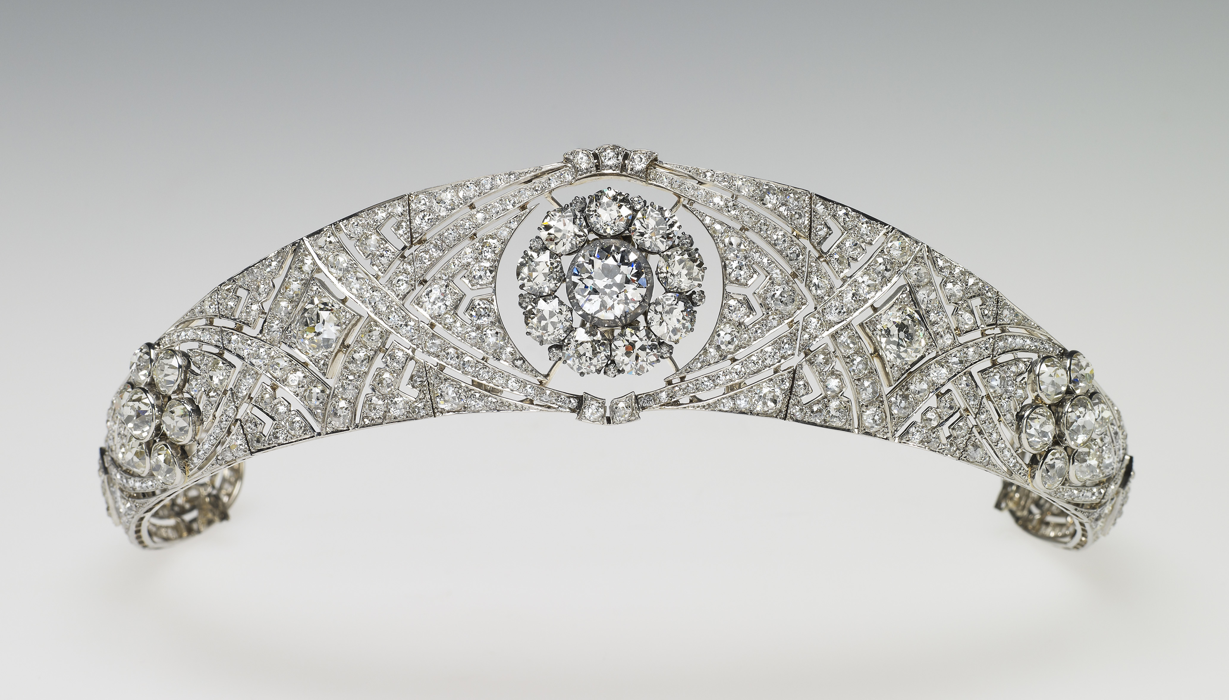 In this undated handout image released by the Royal Household, Queen Mary's Diamond Bandeau, which is being worn by Meghan Markle for her wedding to Prince Harry on May 19, 2018.