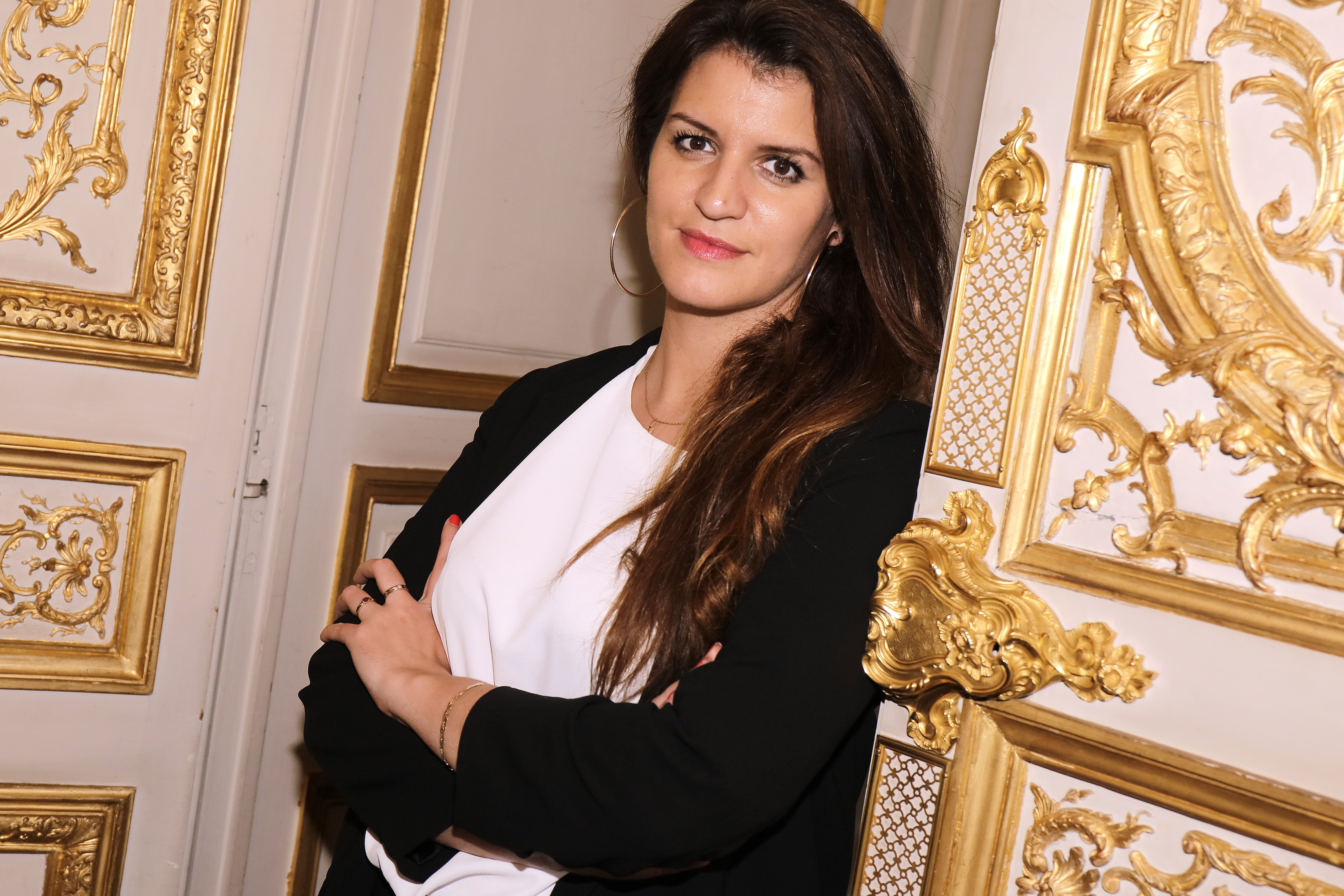 Marlene Schiappa poses in her office in Paris, France on April 7, 2018.
