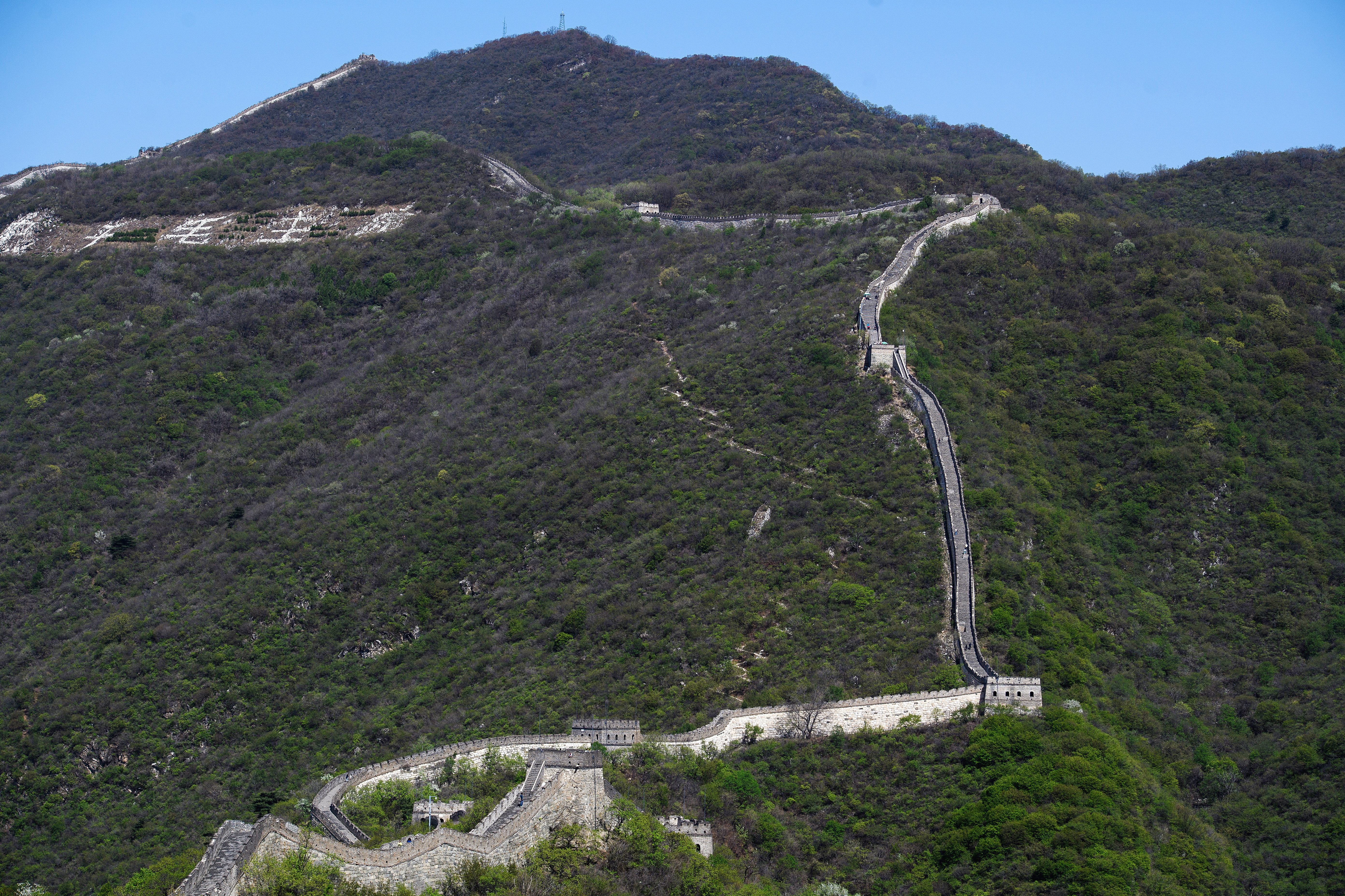 A view of the Great Wall of China near Beijing. The wall is inscribed on the UNESCO World Heritage List. Donat Sorokin/TASS (Photo by Donat SorokinTASS via Getty Images)