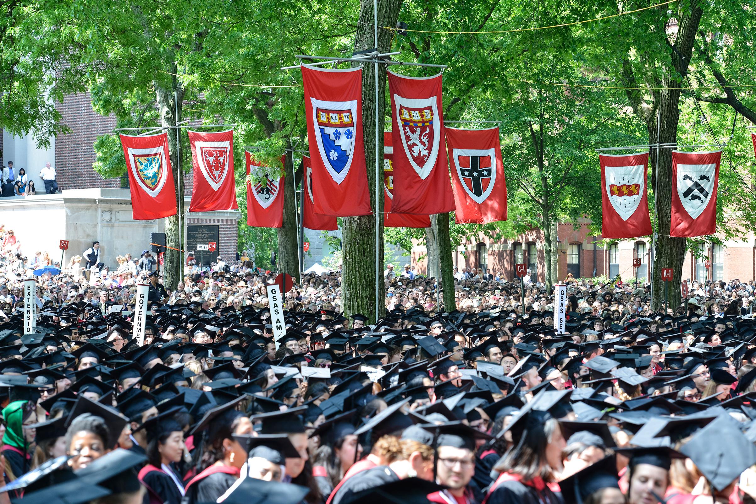 Harvard Commencement held in Harvard Yard in Cambridge, Mass., May 30, 2013.